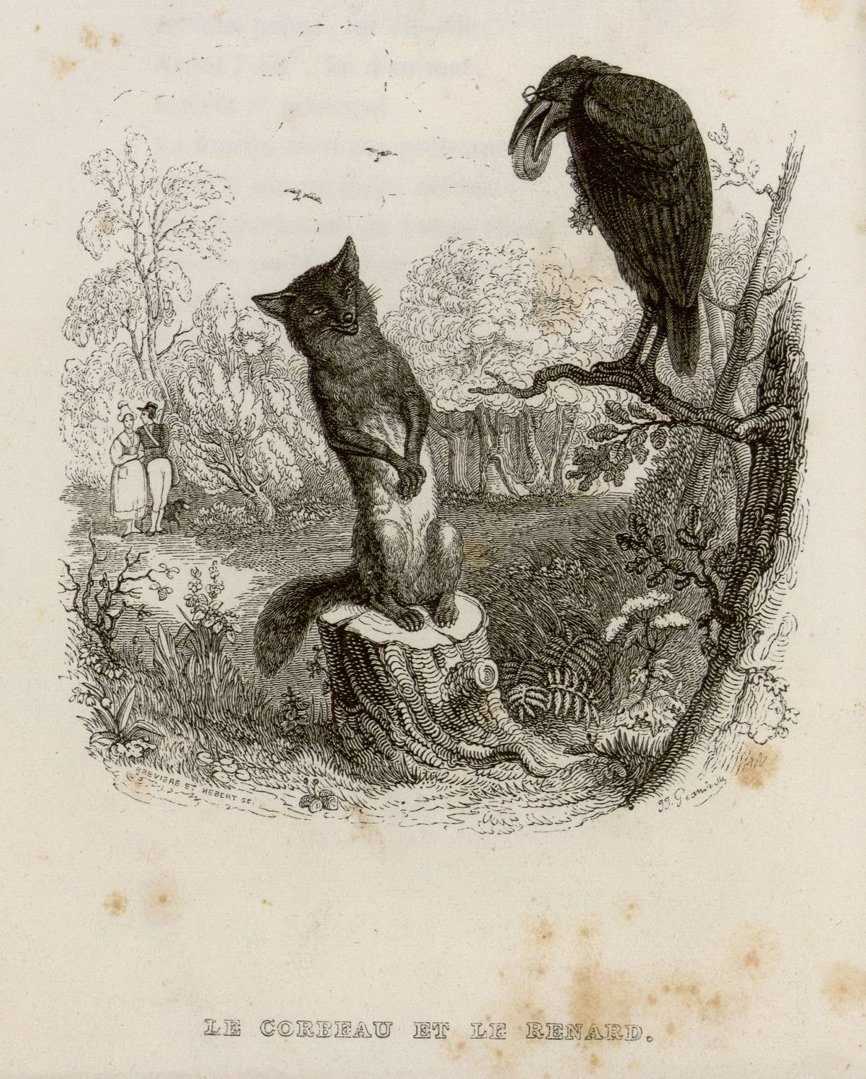 Contenu du Le corbeau et le renard