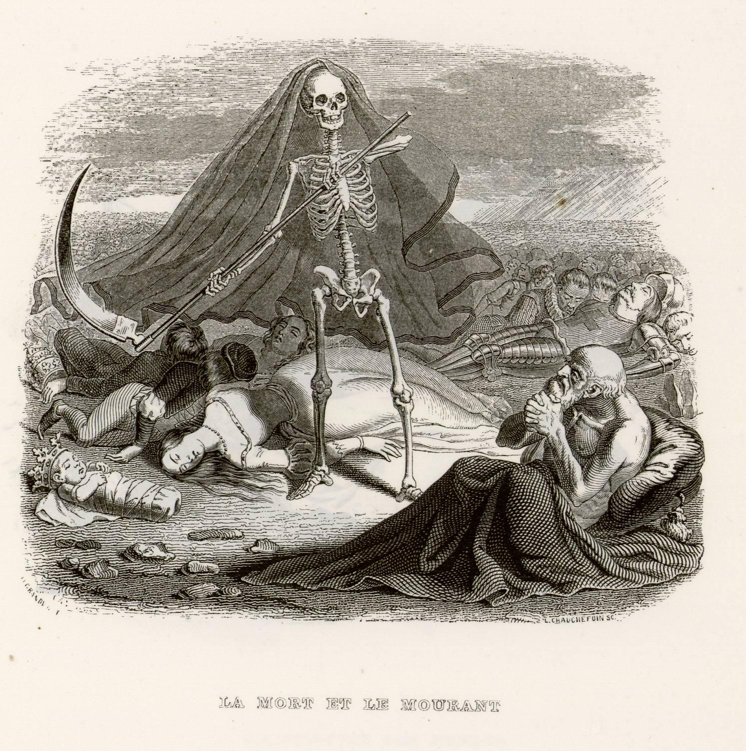 Contenu du La mort et le mourant