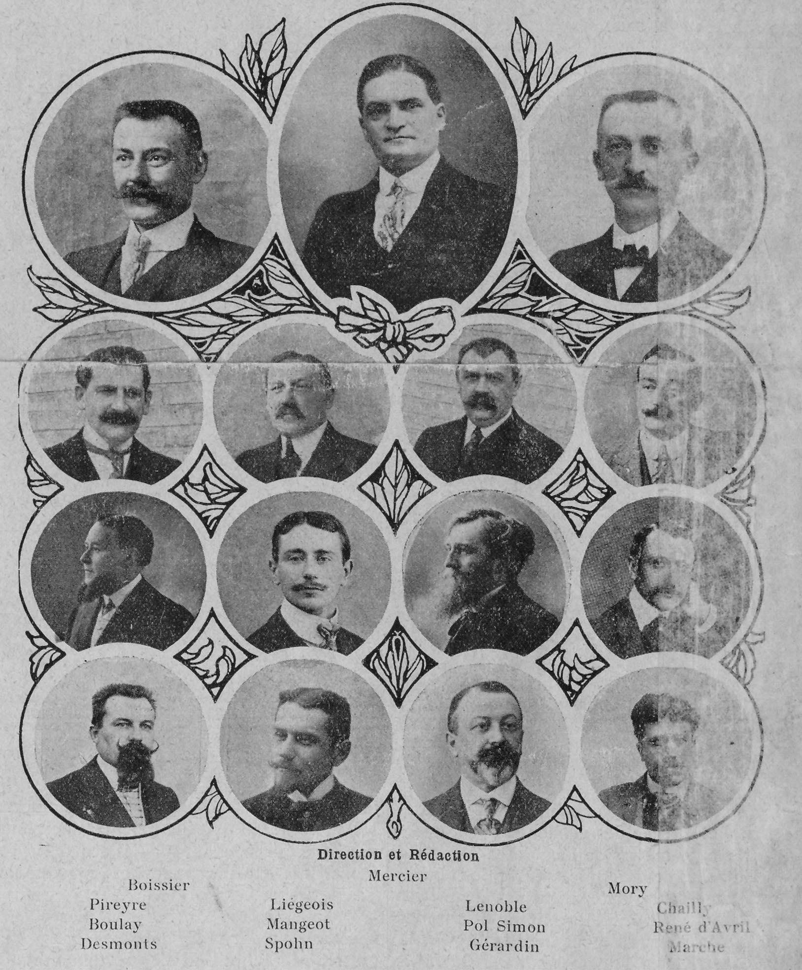 Contenu du Portrait des directeurs et rédacteurs de l'Est républicain