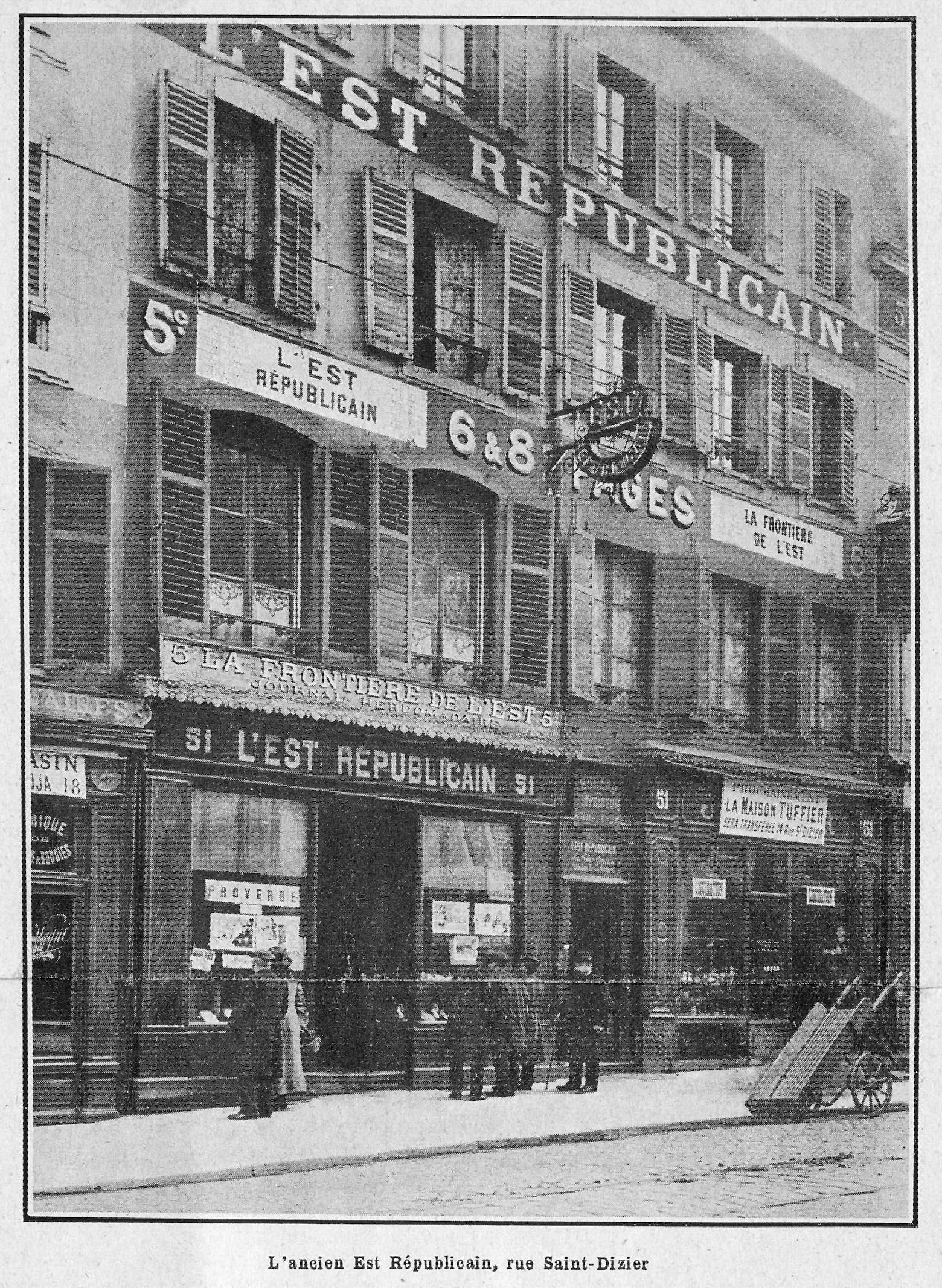Contenu du L'ancien Est républicain, rue Saint-Dizier