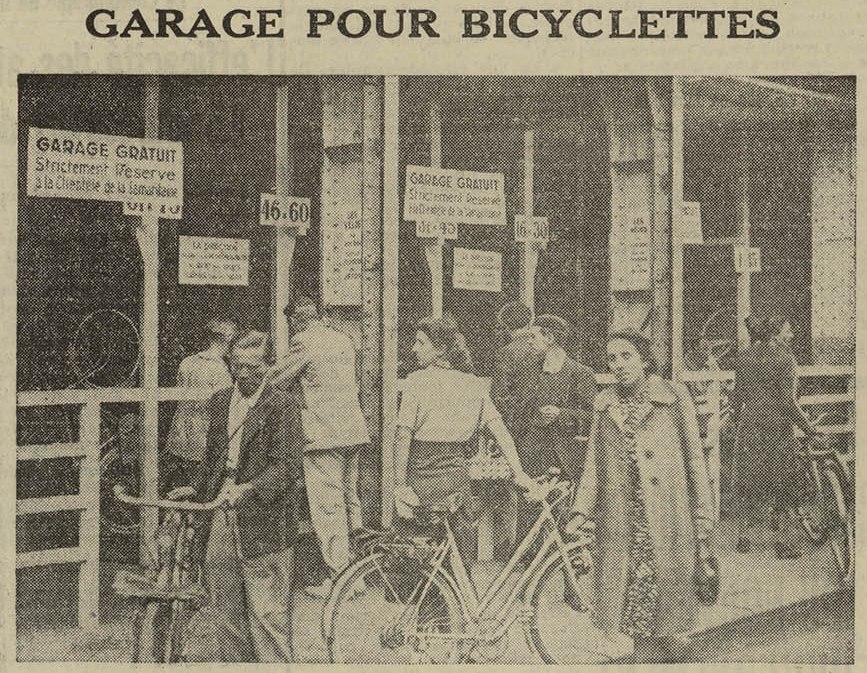 Contenu du Garage pour bicyclettes.