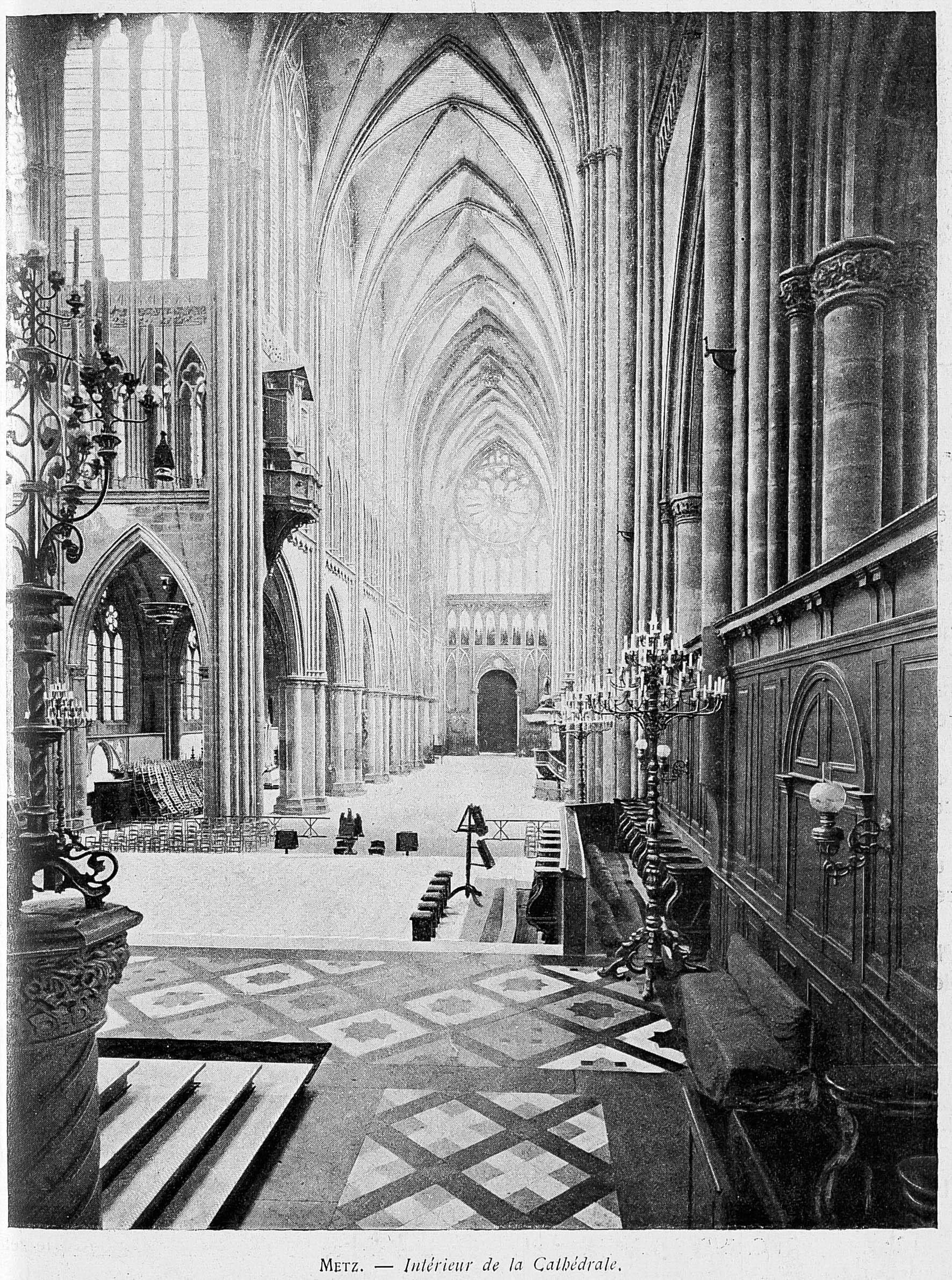 Contenu du Metz : intérieur de la cathédrale