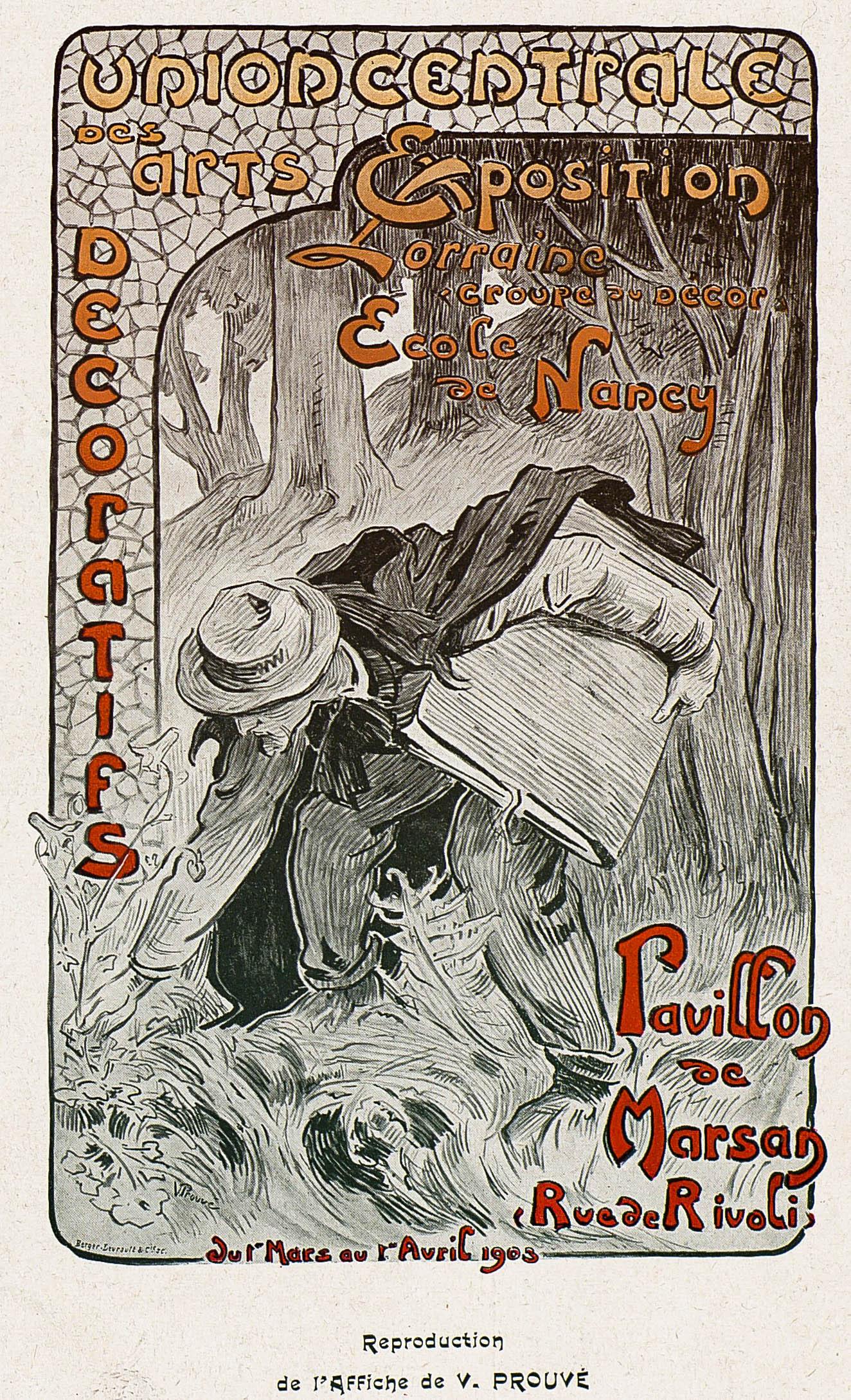 Contenu du Reproduction de l'affiche de V. Prouvé