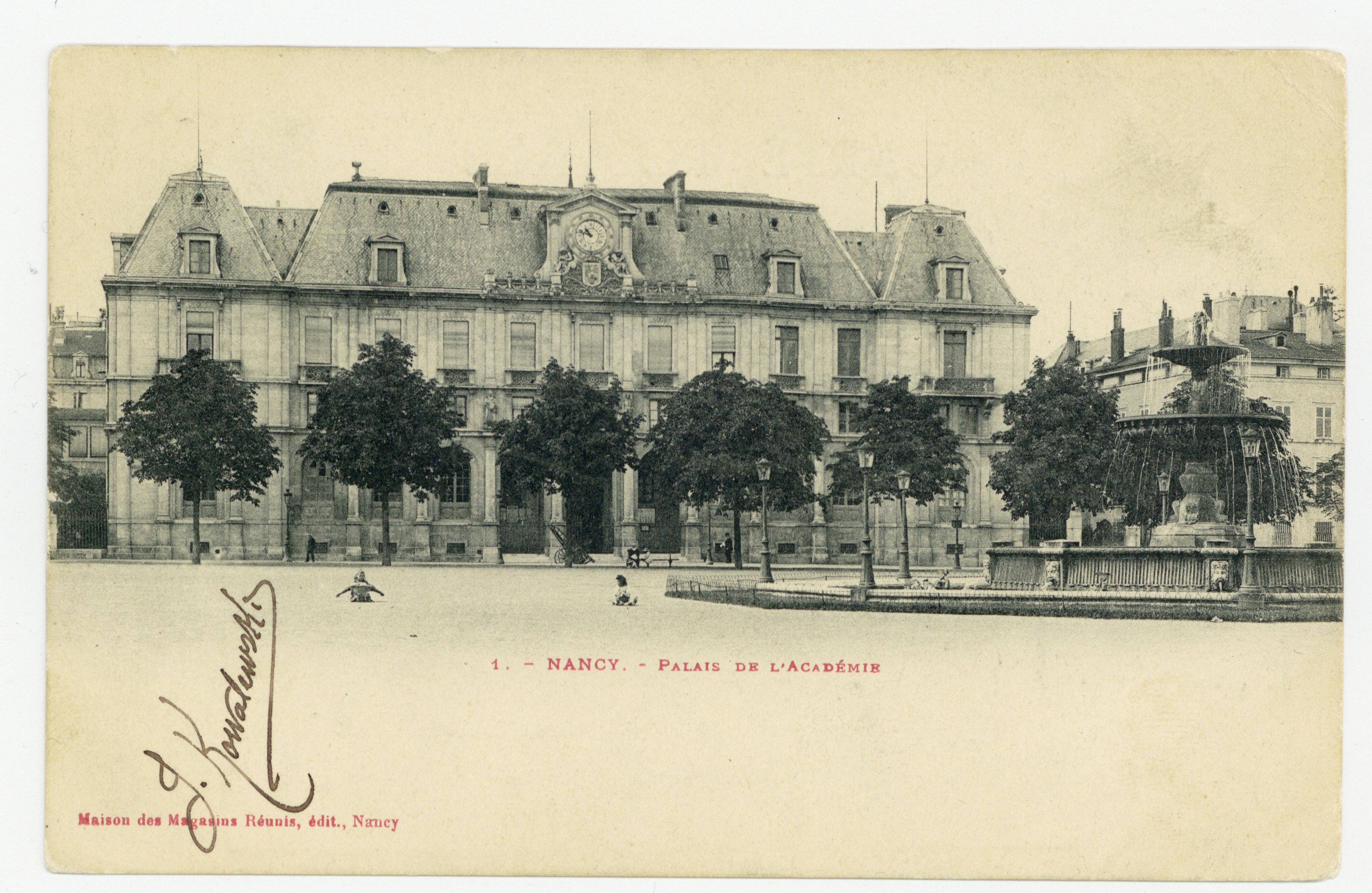 Contenu du Nancy. Palais de l'Académie