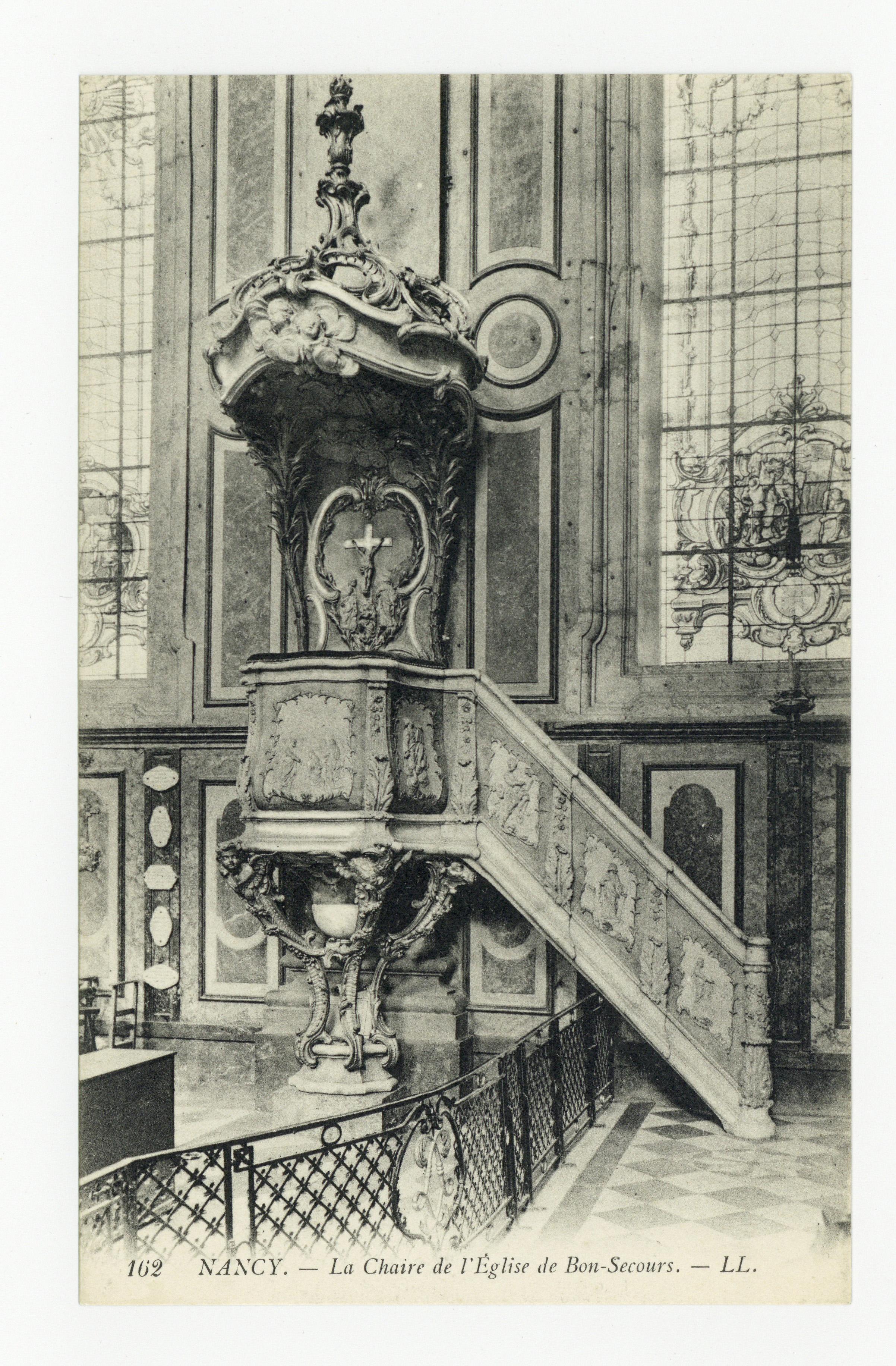 Contenu du Nancy : la Chaire de l'Église de Bon-Secours