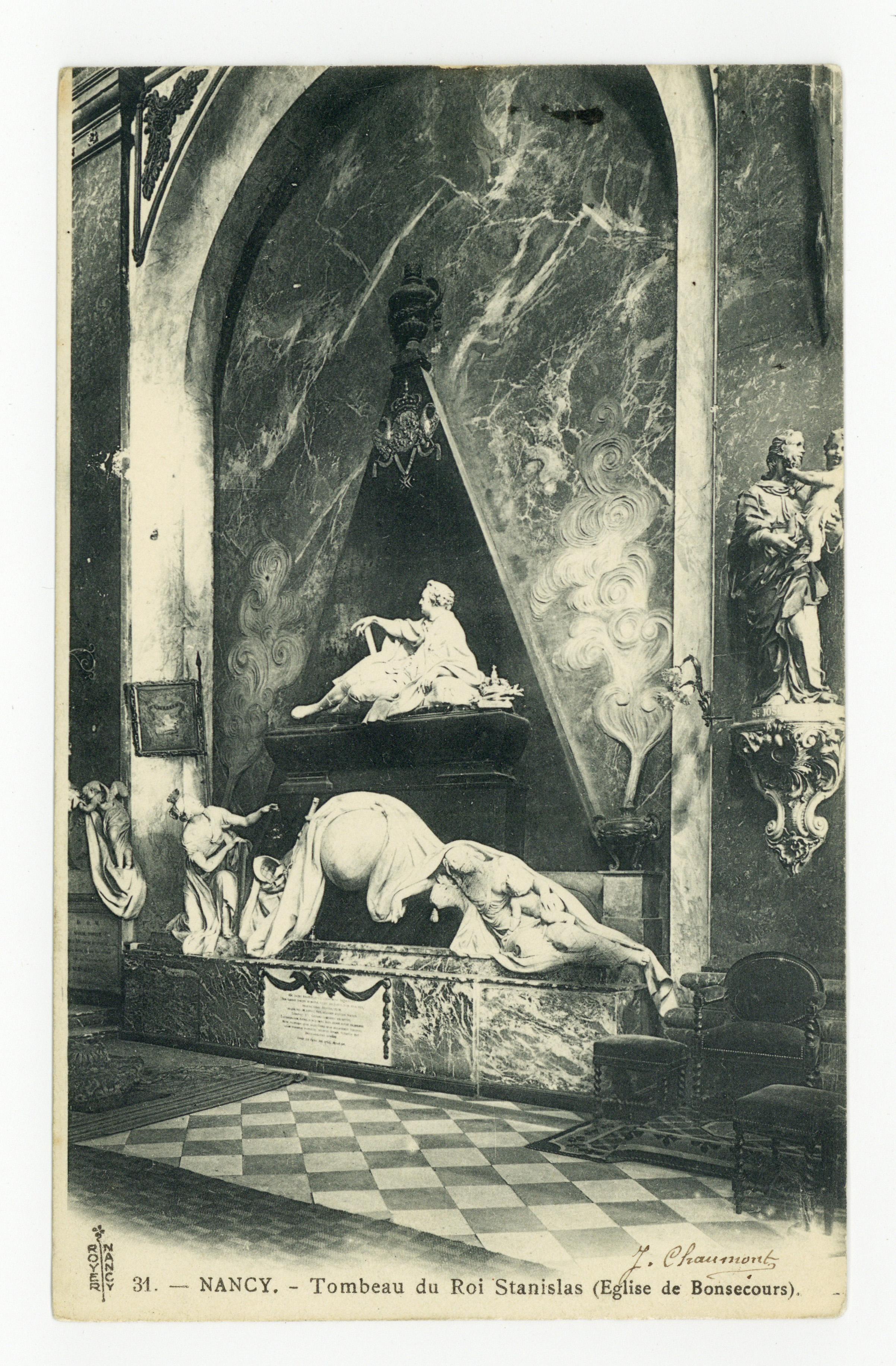 Contenu du Nancy : tombeau du Roi Stanislas (Église de Bonsecours)