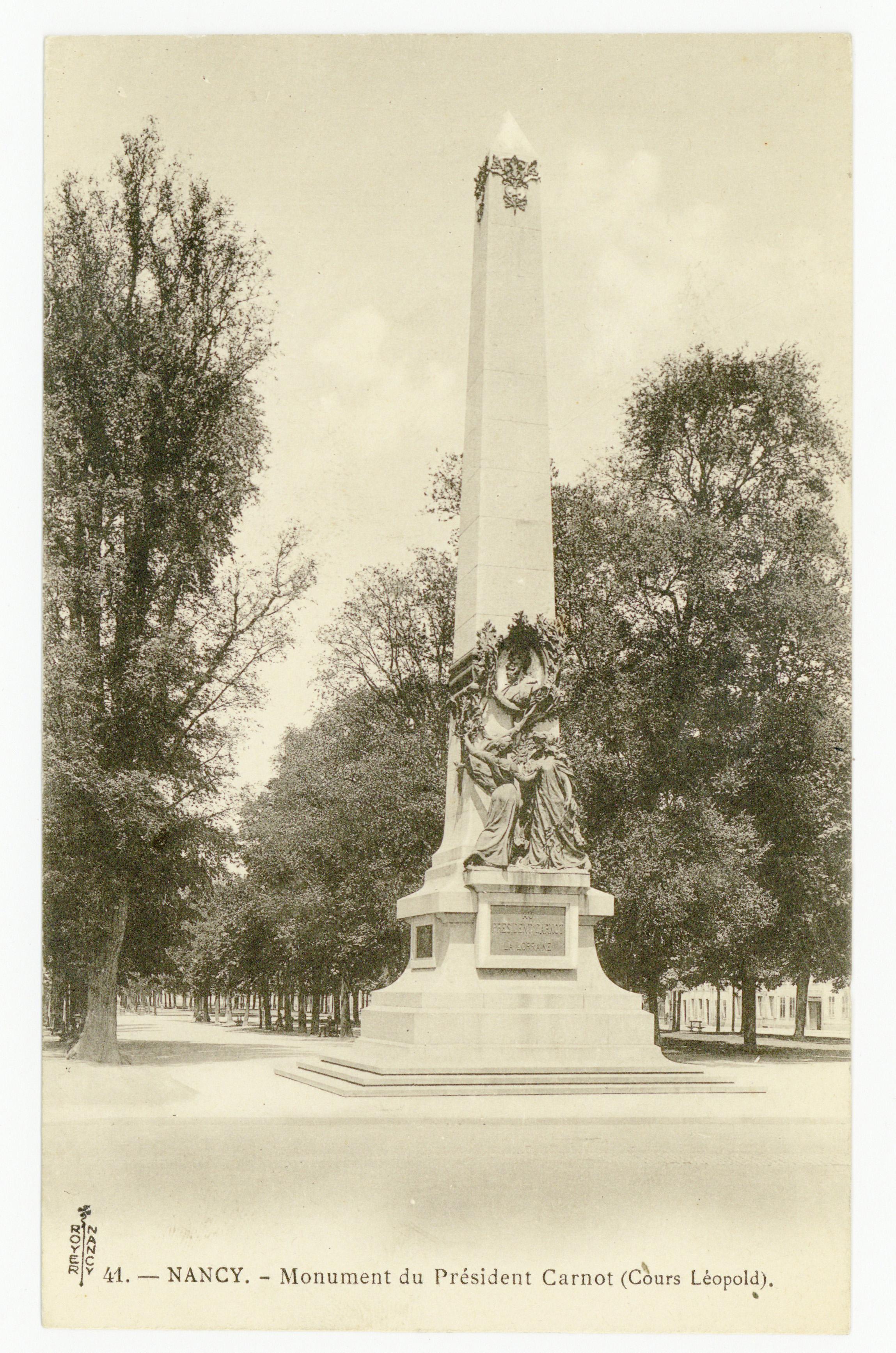 Contenu du Nancy : monument du Président Carnot (Cours Léopold)