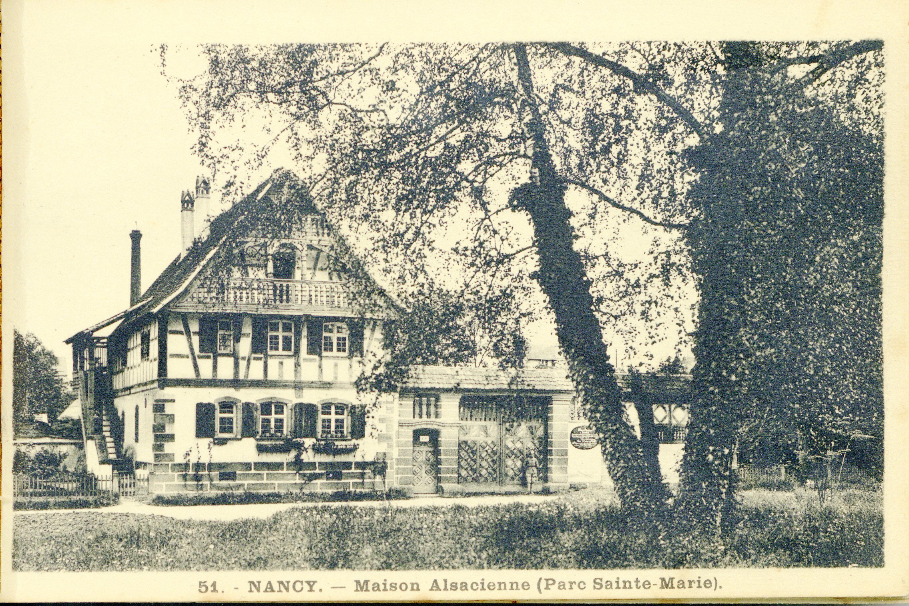 Contenu du Nancy : maison alsacienne (parc Sainte-Marie)