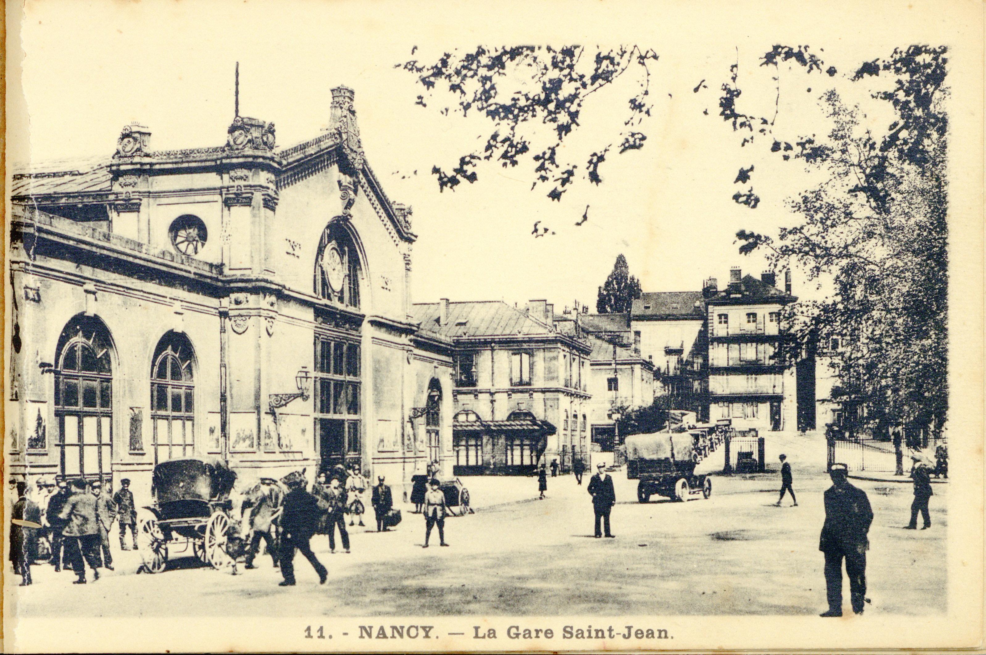 Contenu du Nancy. La Gare Saint-Jean