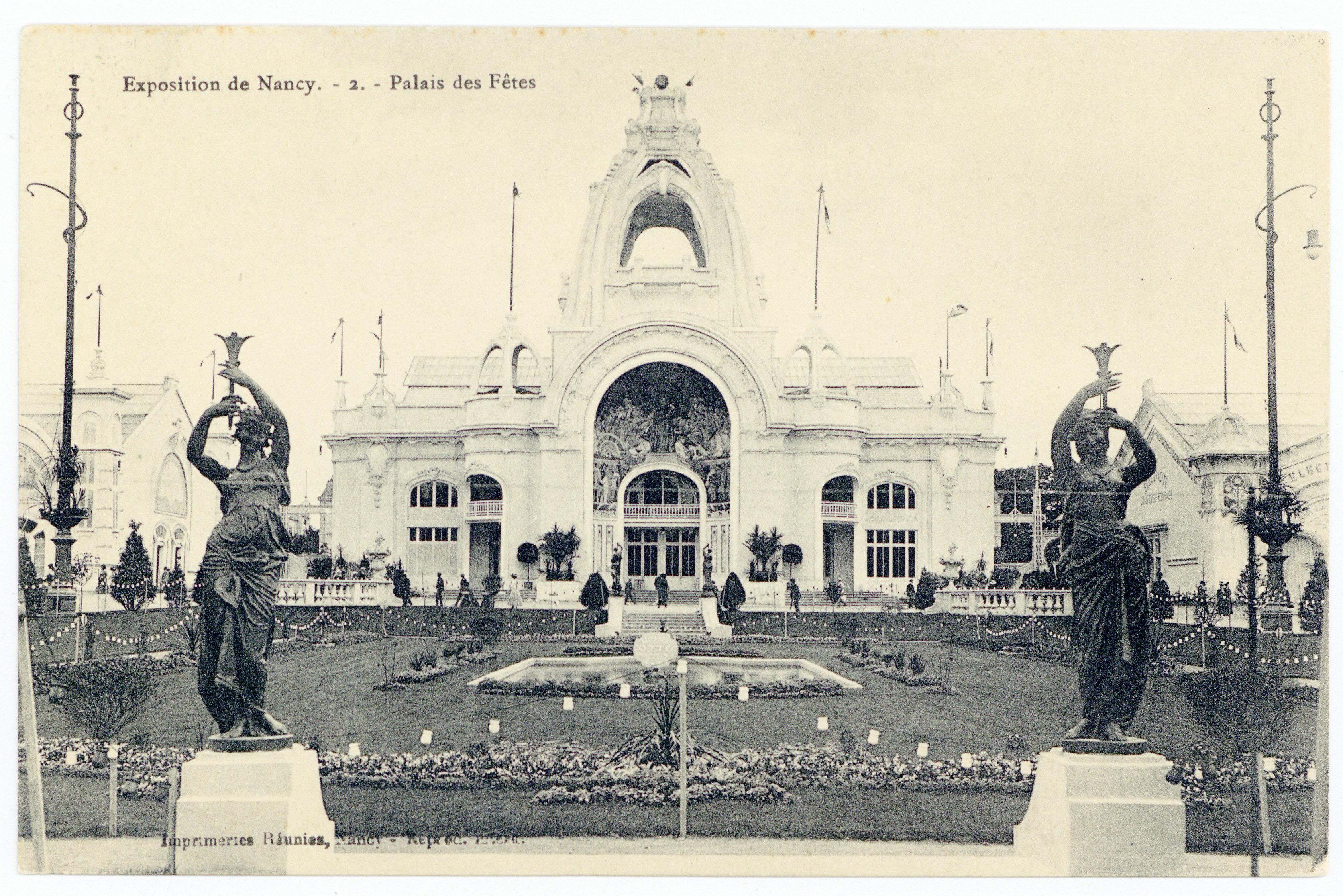 Contenu du Palais des fêtes : exposition de Nancy