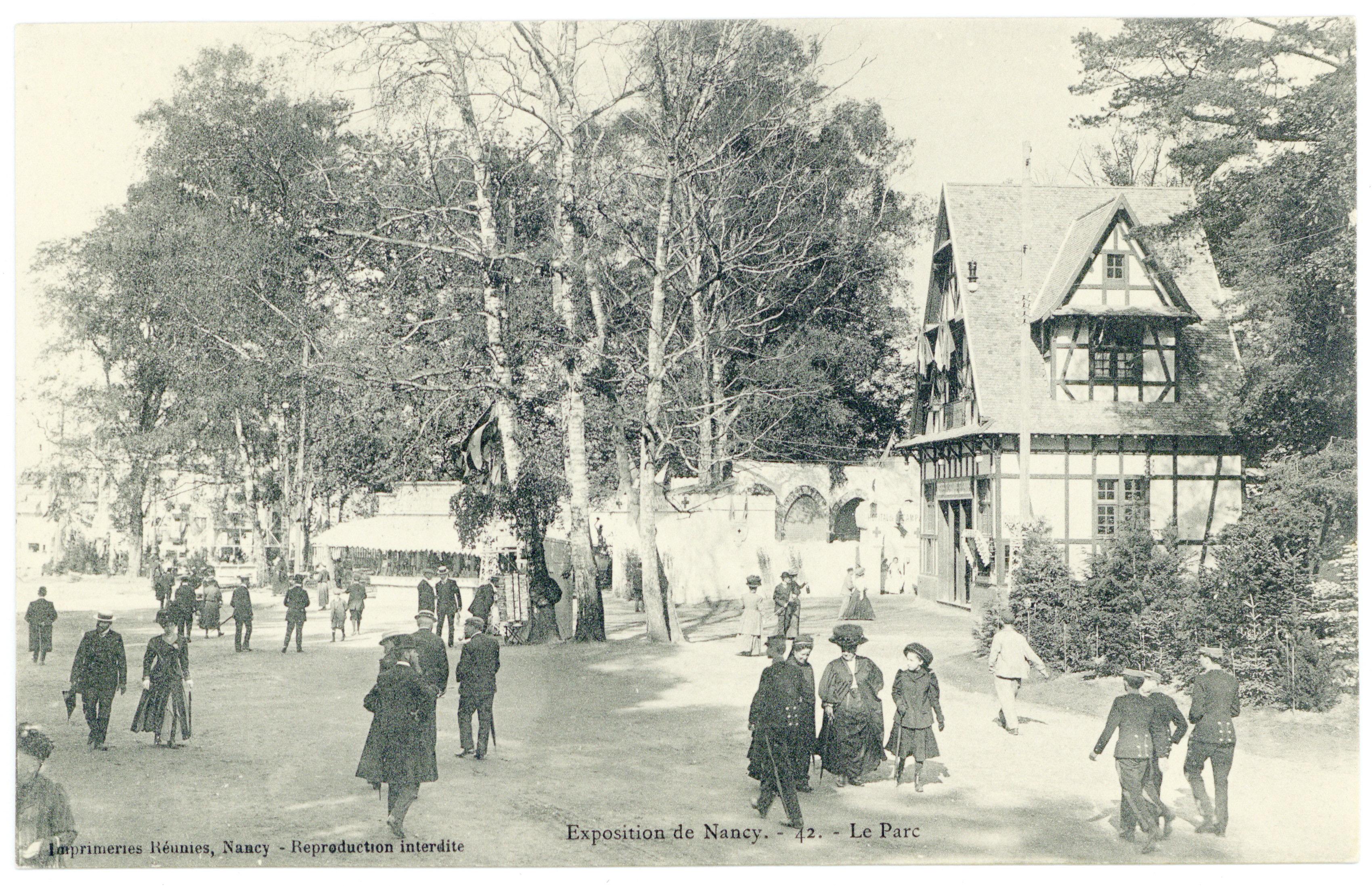 Contenu du Le parc : exposition de Nancy