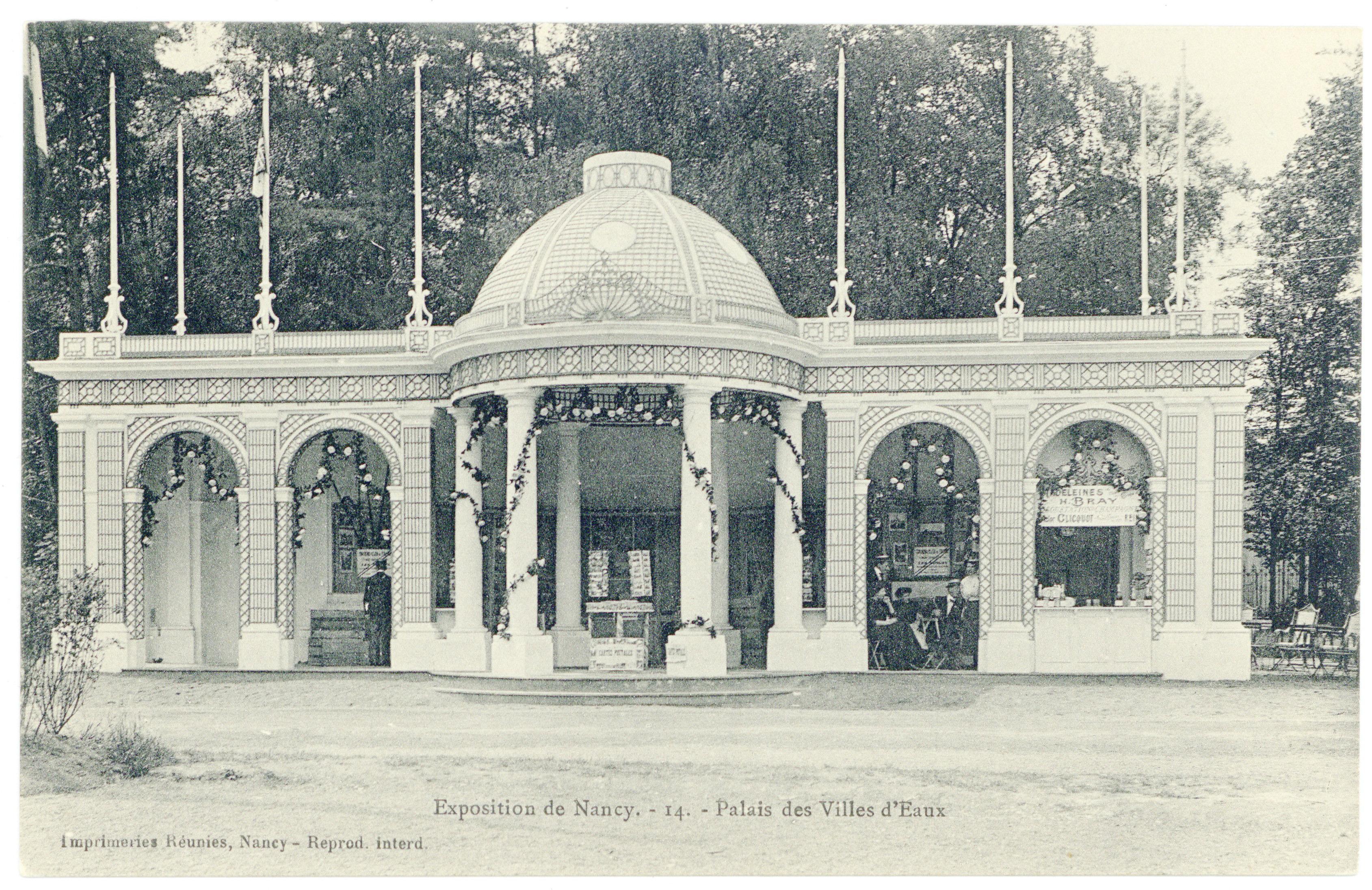 Contenu du Palais des villes d'eaux : exposition de Nancy