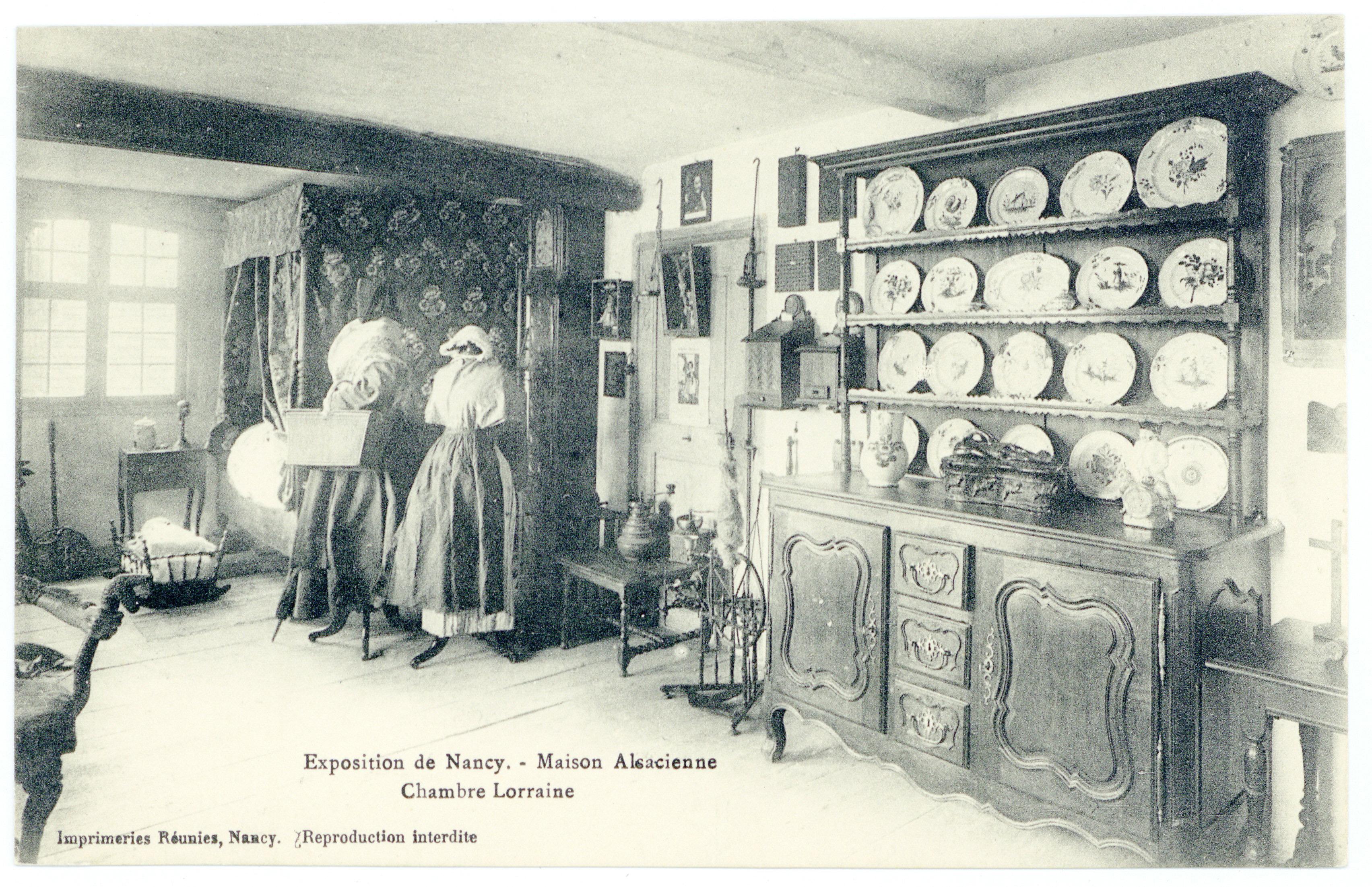 Contenu du Chambre lorraine : exposition de Nancy, maison alsacienne