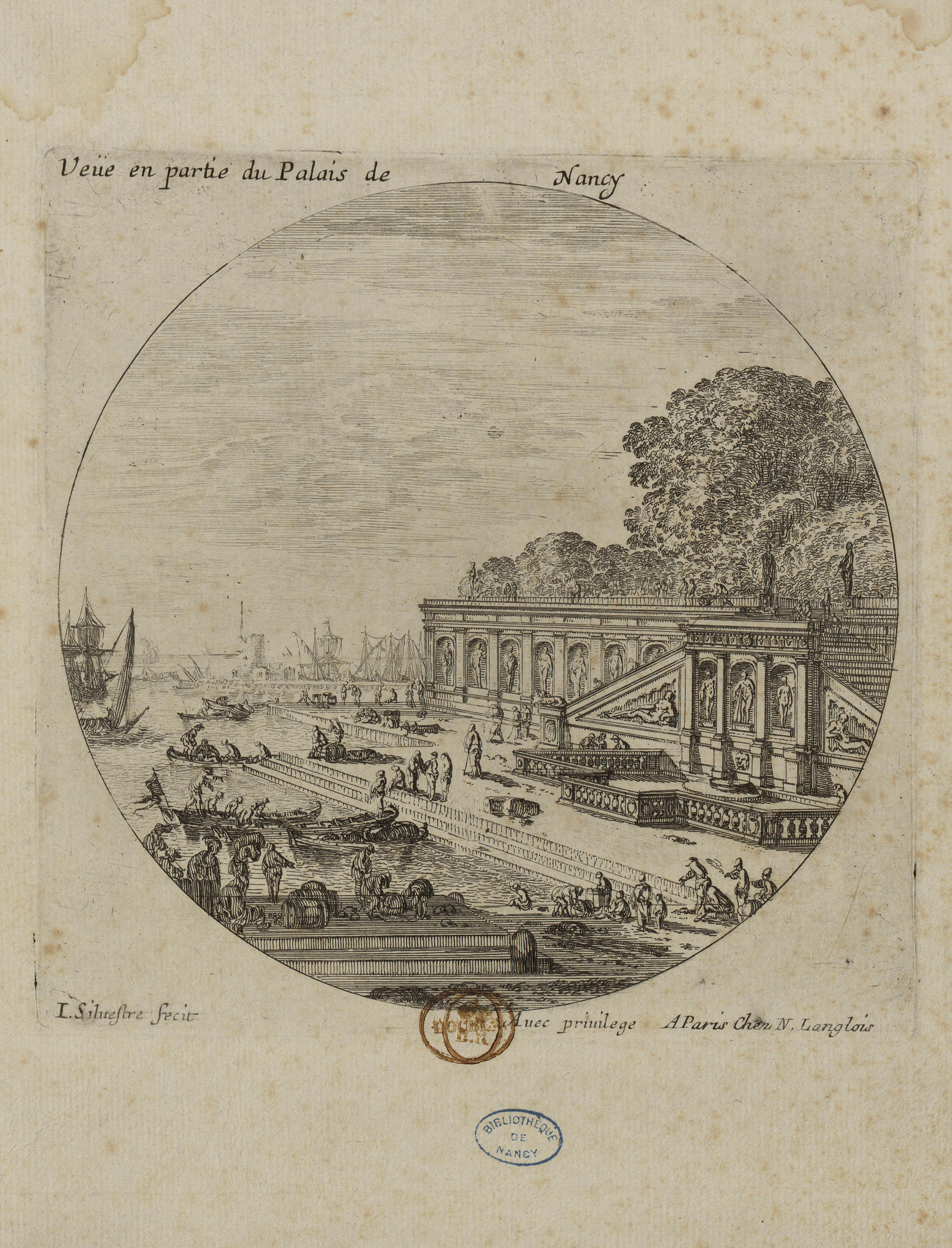 Contenu du Veüe en partie du Palais de Nancy