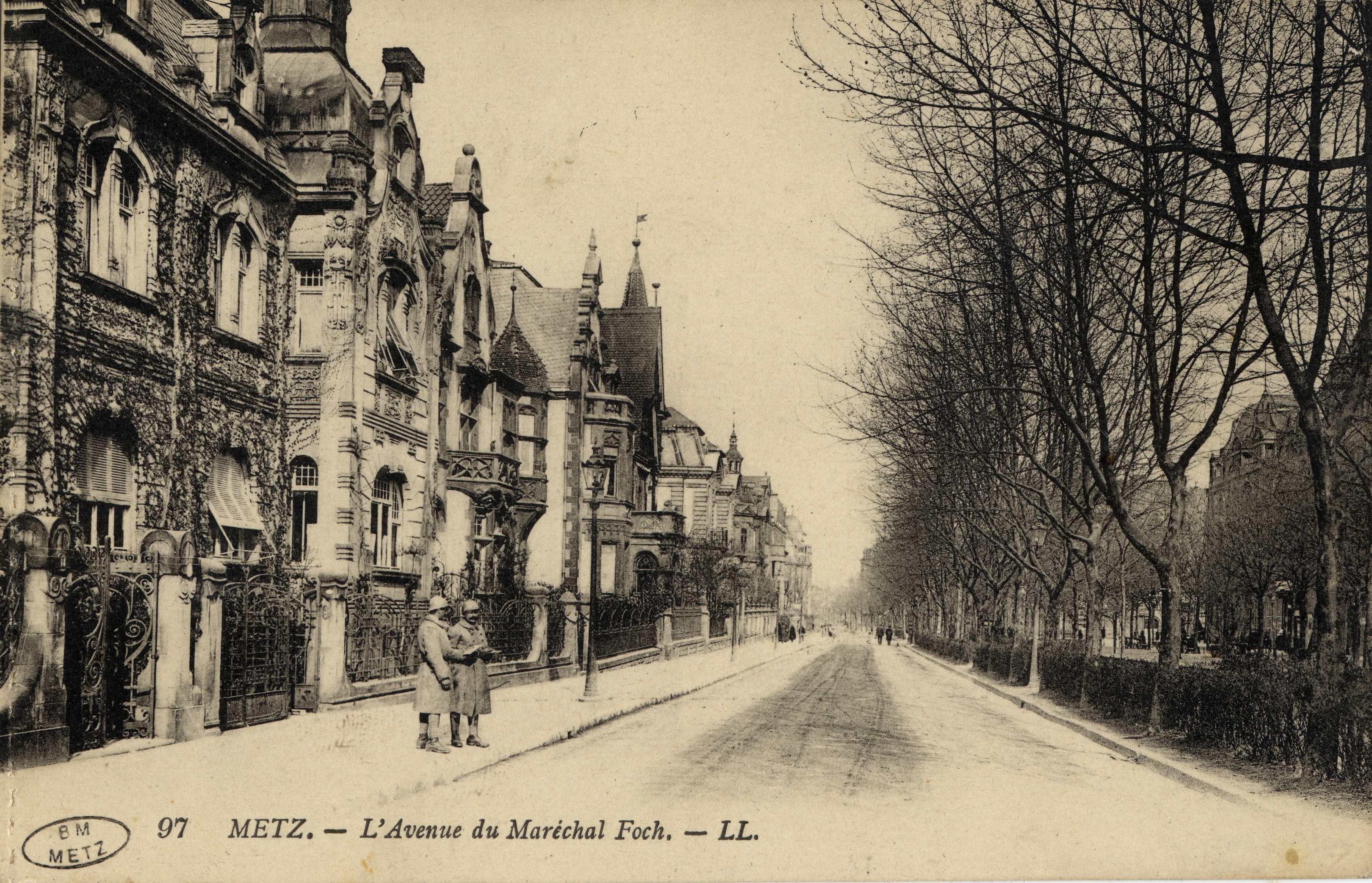 Contenu du Metz. Avenue Maréchal-Foch