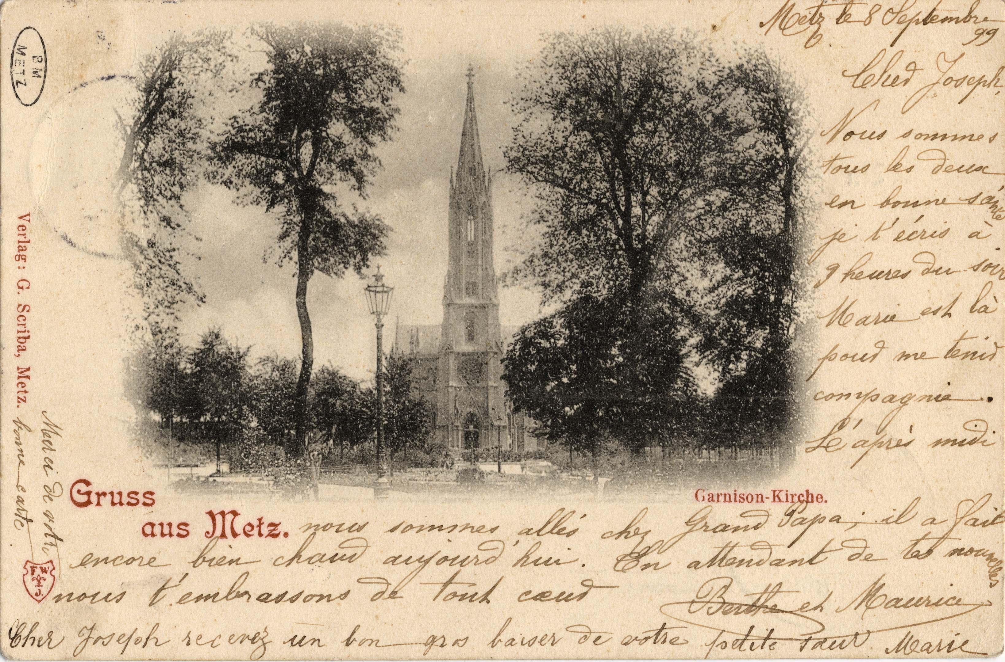 Contenu du Gruss aus Metz. Garnisonkirche