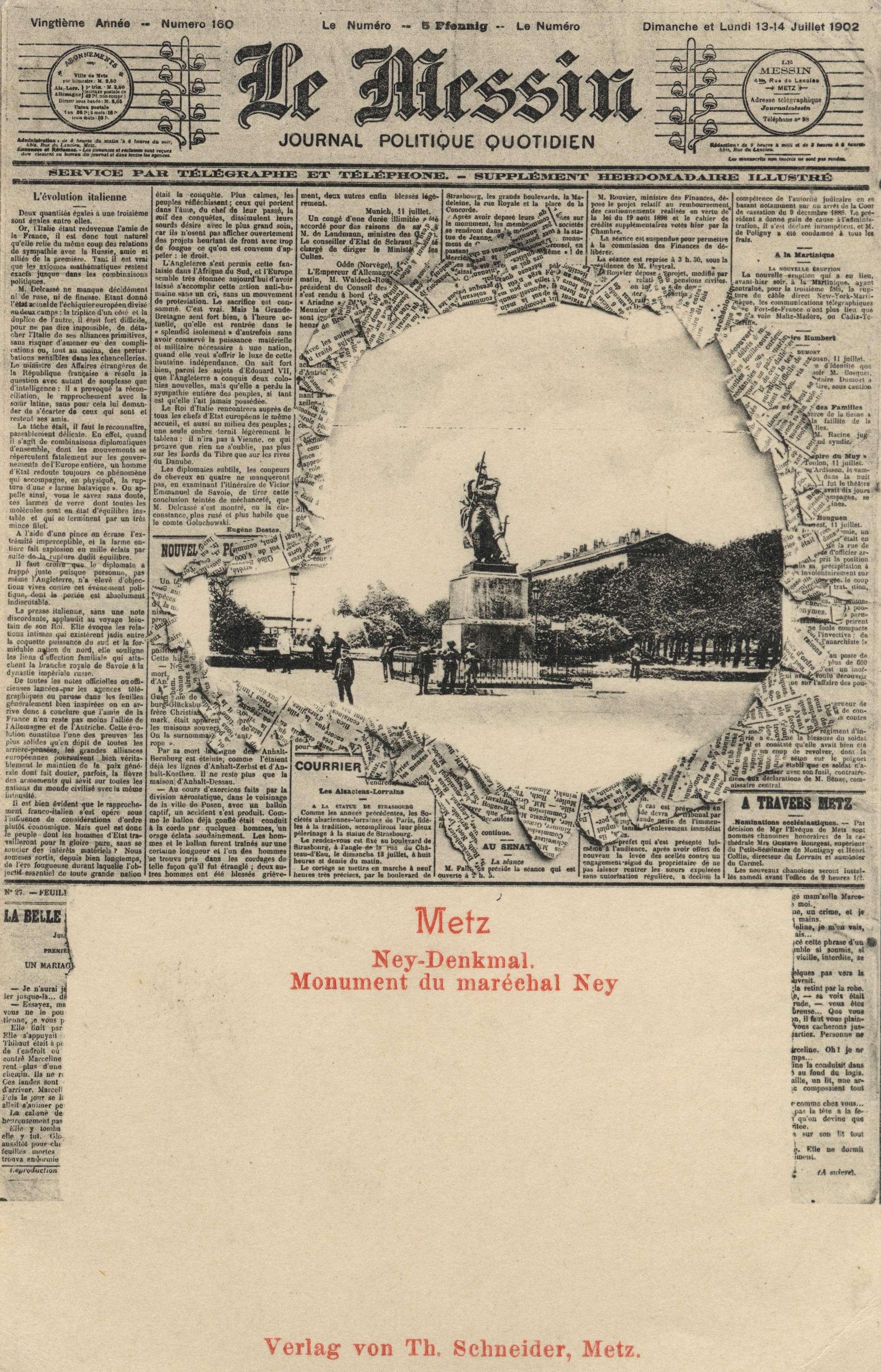 Contenu du Le Messin - Metz Ney-Denkmal. Monument dumaréchal Ney
