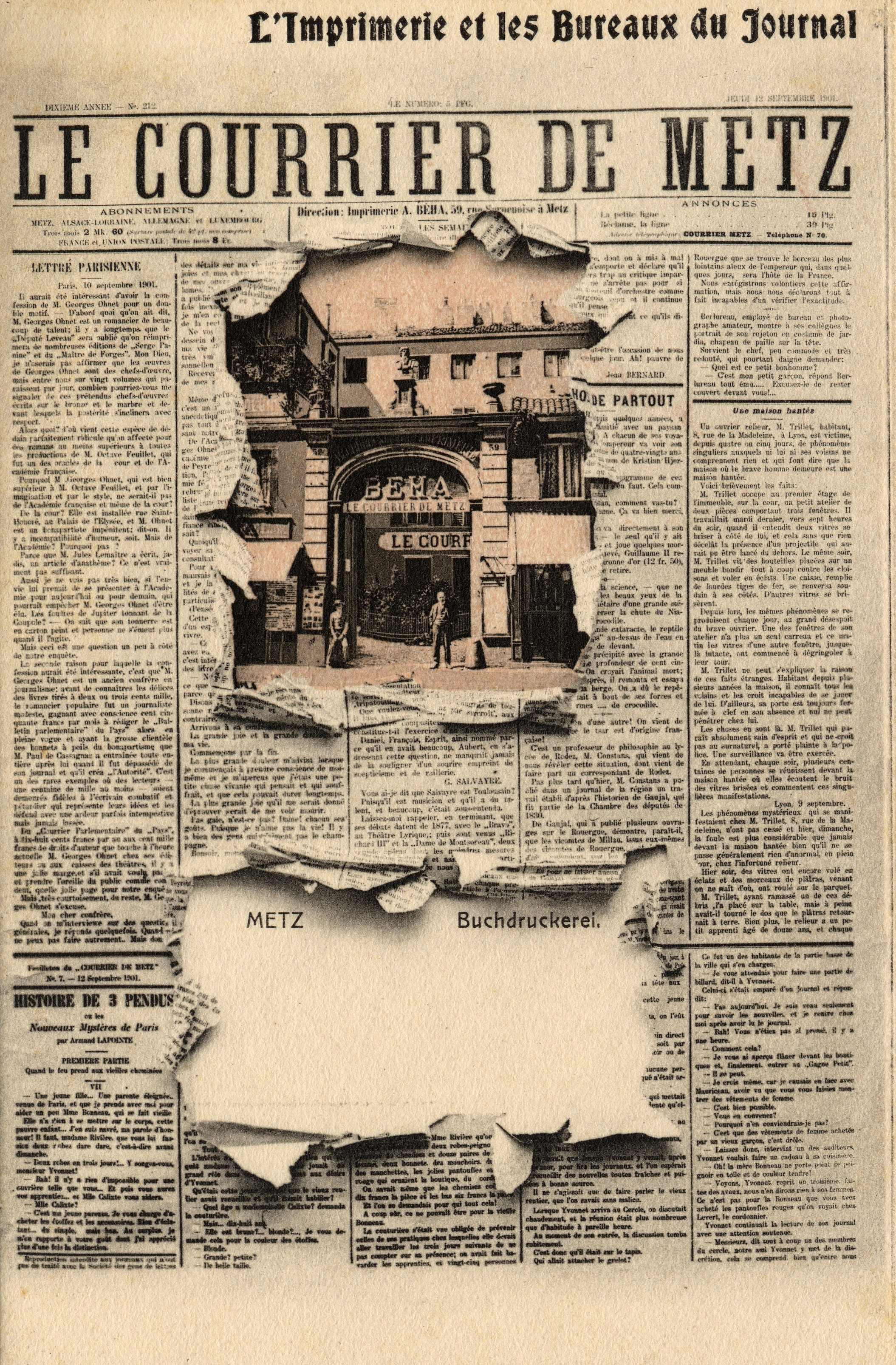 Contenu du Le Courrier de Metz - Metz Buchdruckerei