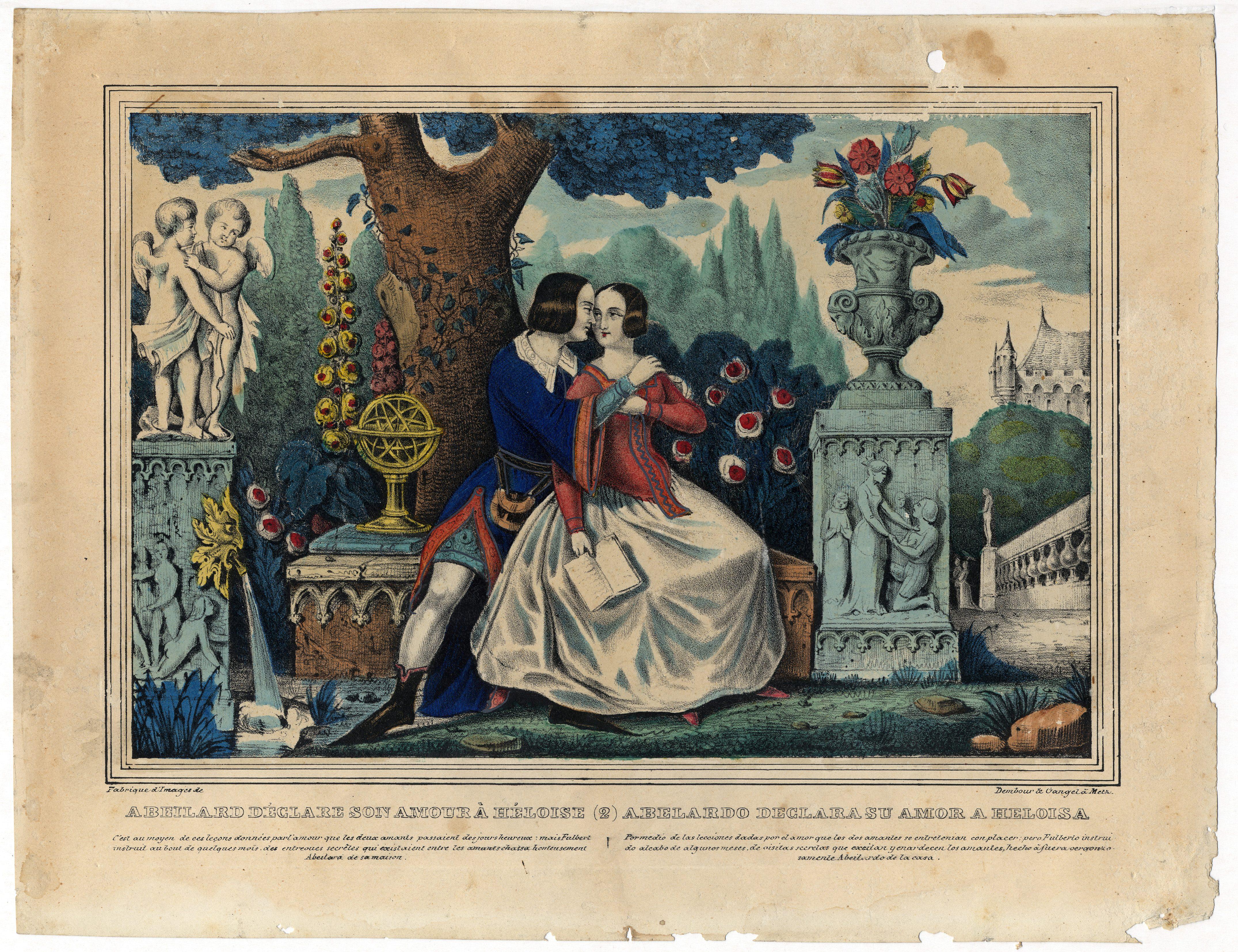 Contenu du Abeilard déclare son amour à Héloïse