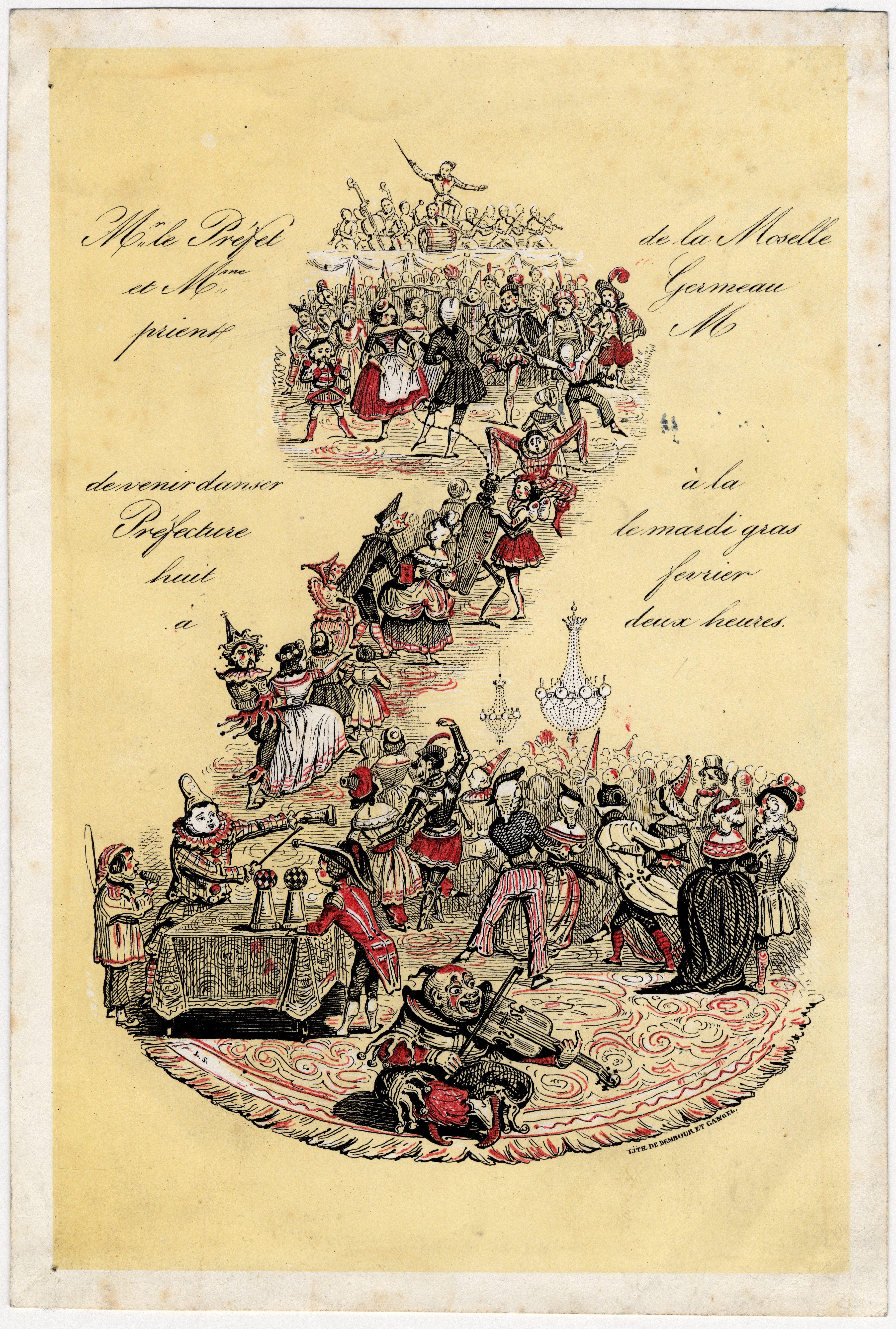 Contenu du Billet d'invitation du Préfet de la Moselle pour Mardi gras