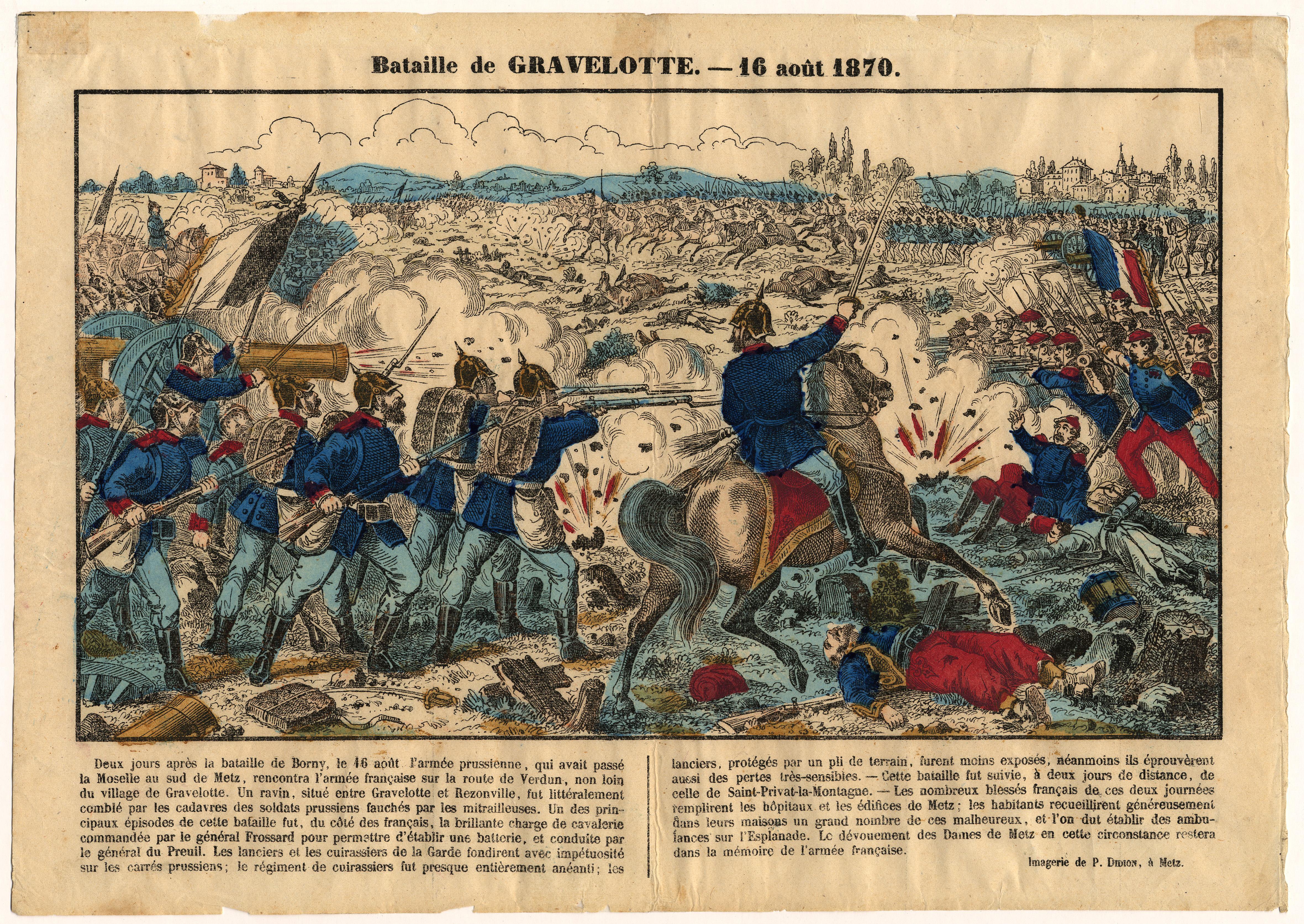 Contenu du Bataille de Gravelotte : 16 août 1870
