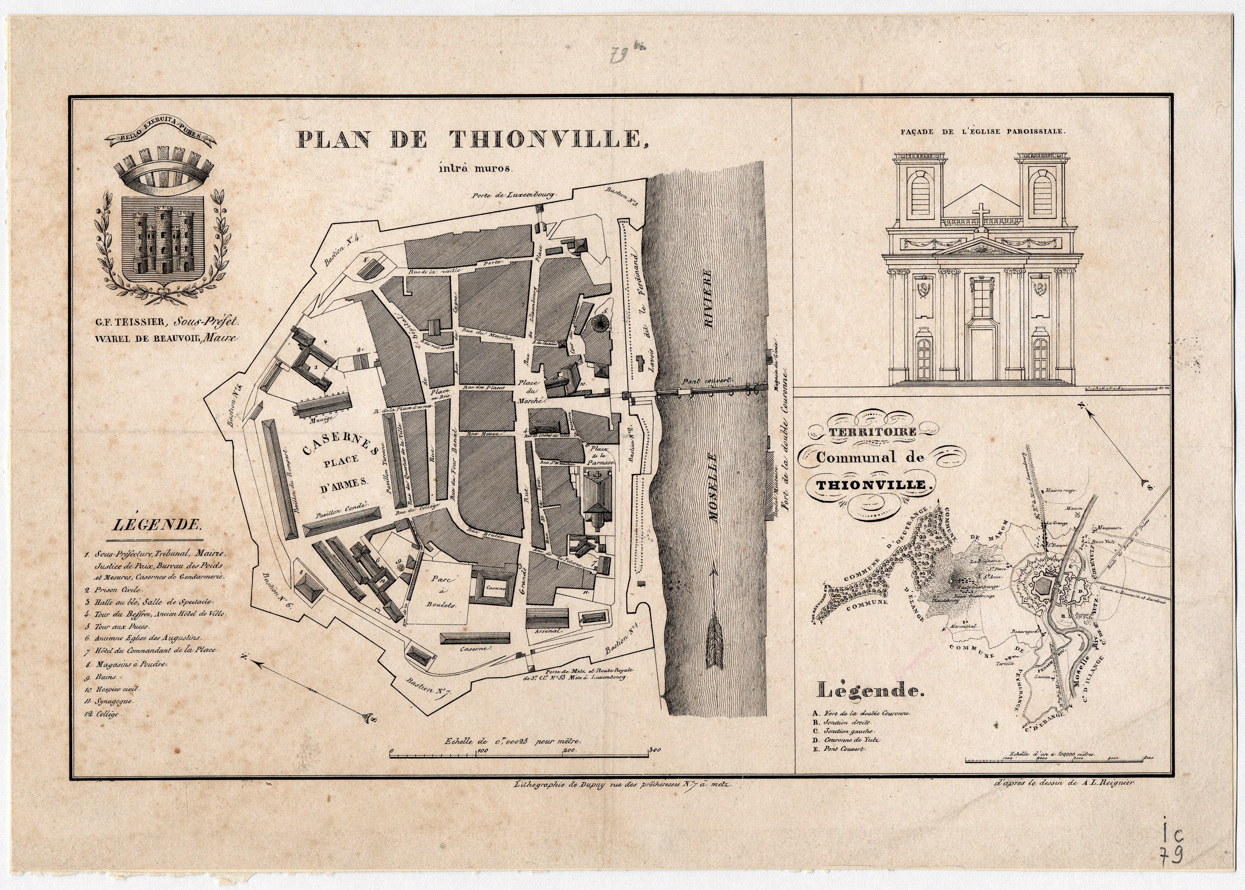 Contenu du Plan de Thionville intra muros