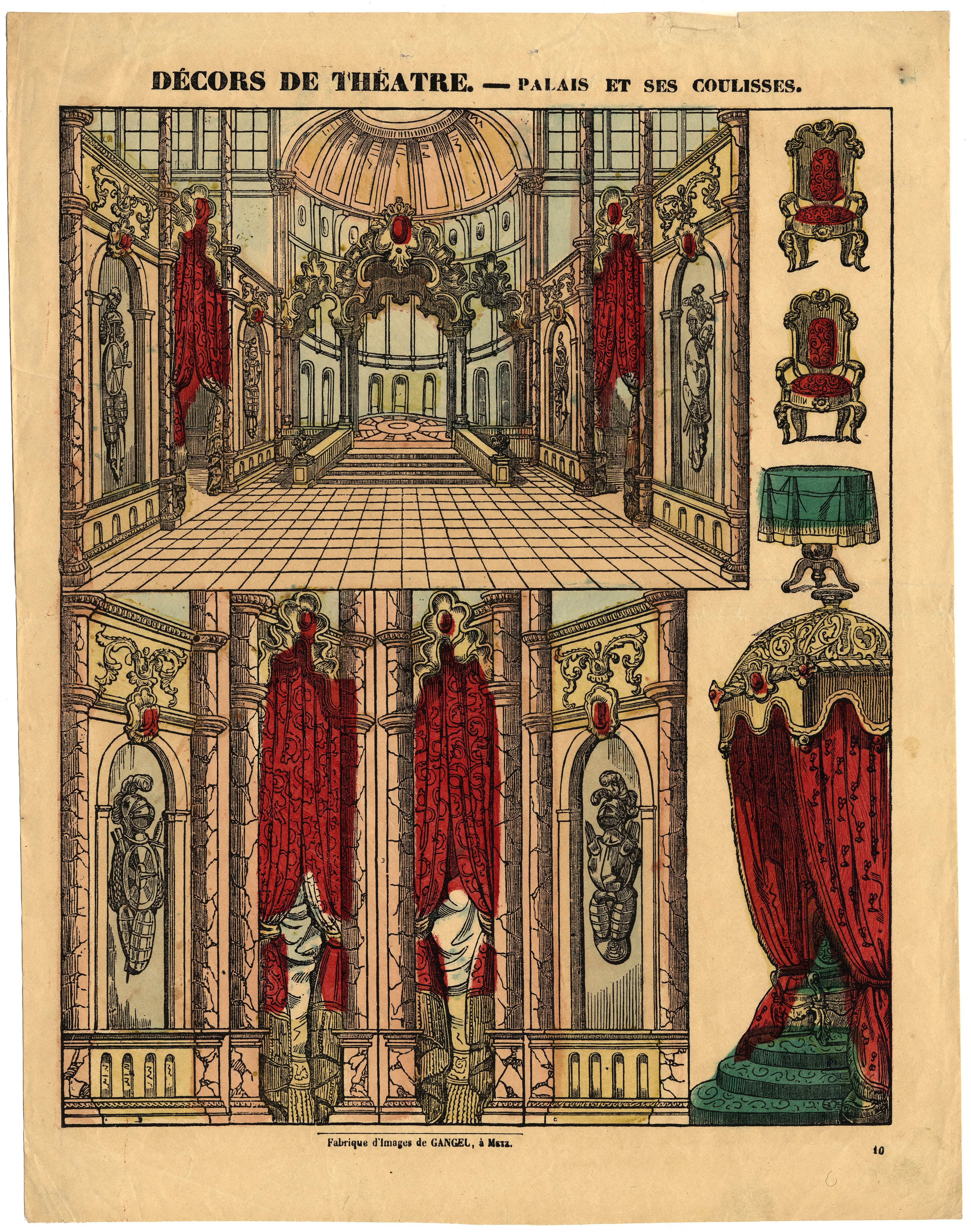 Contenu du Décors de théâtre : palais et ses coulisses