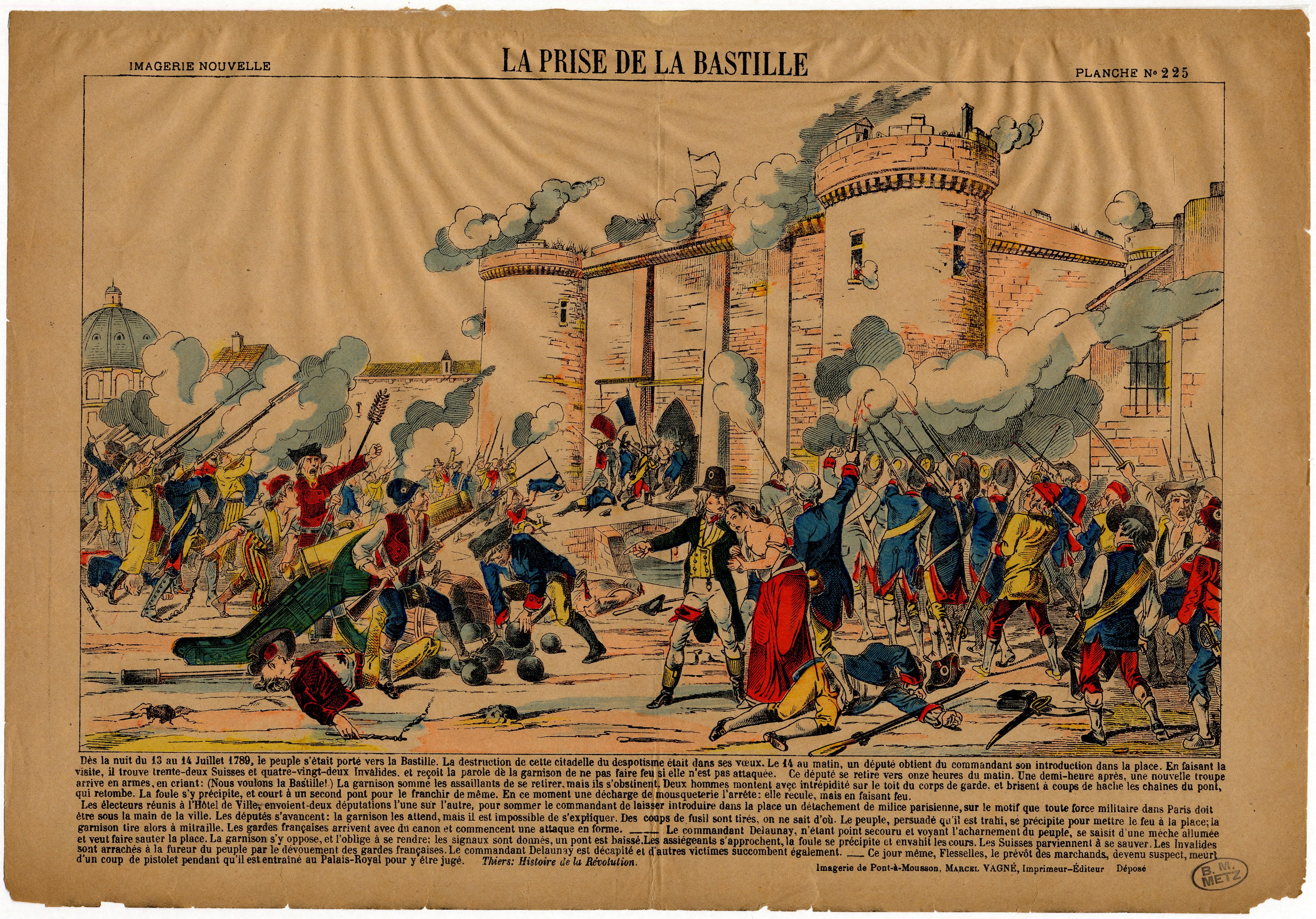 Contenu du La prise de la Bastille