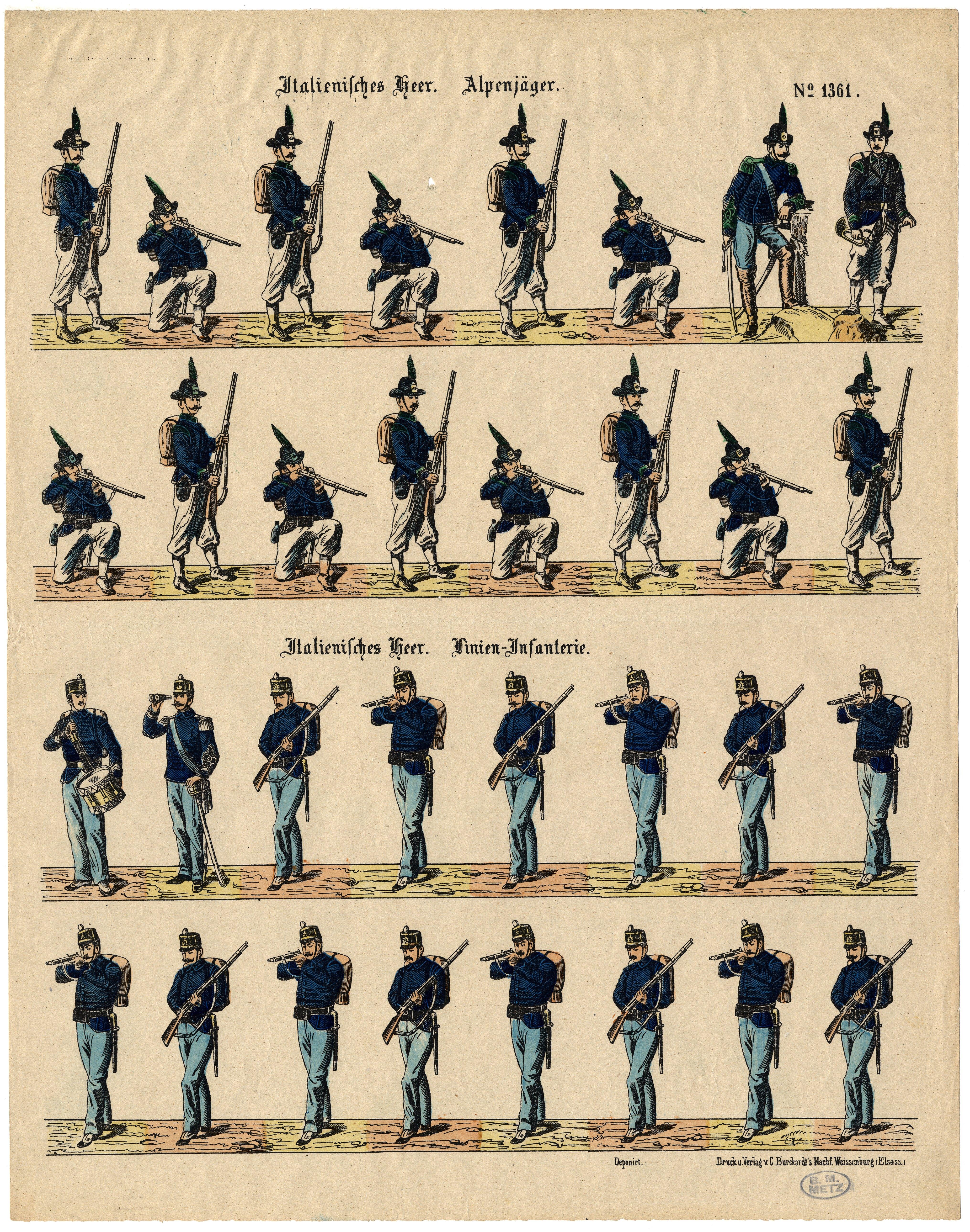 Contenu du Italienisches Heer. Alpenjäger – Italienisches Heer. Linien-Infanterie