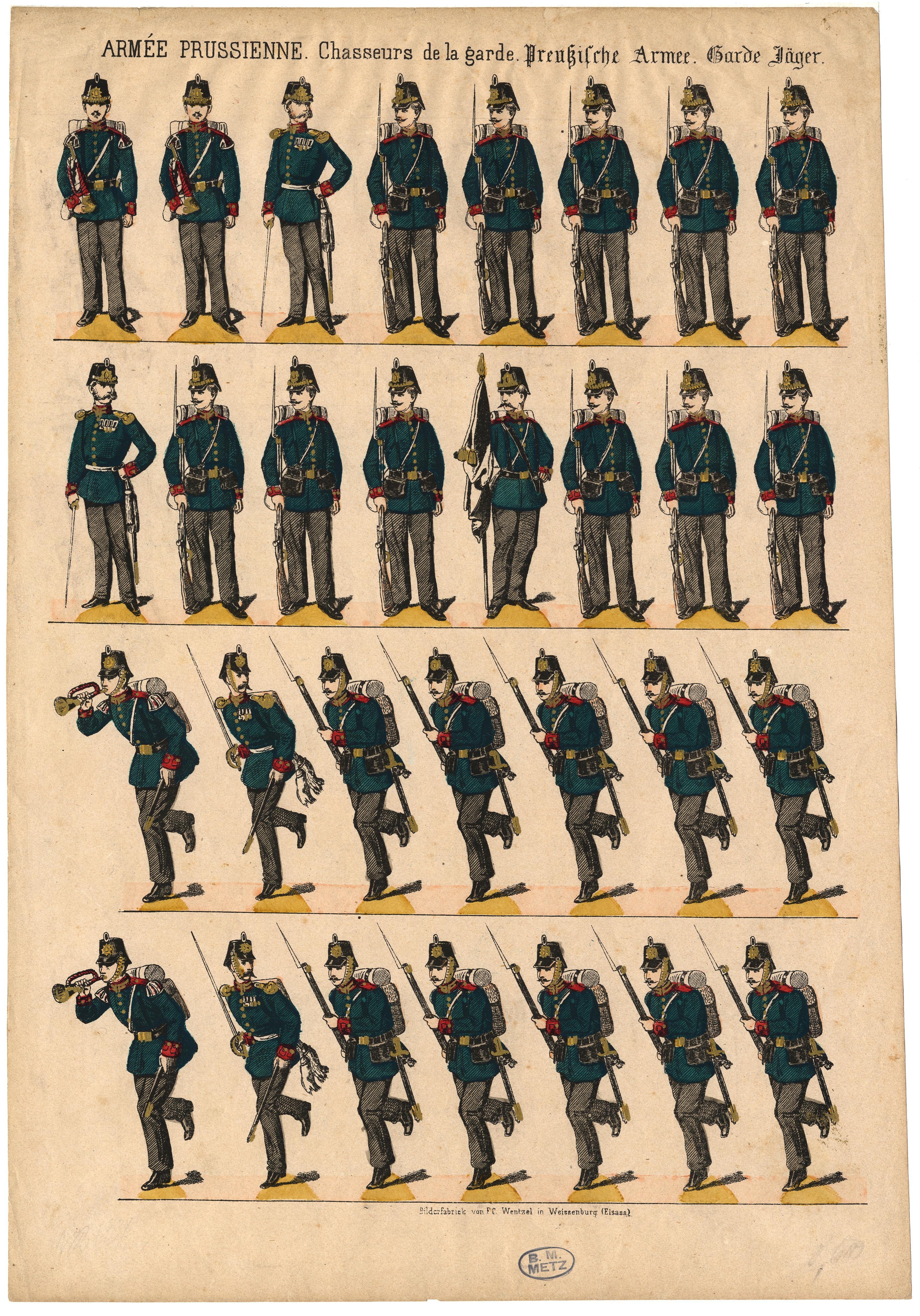 Contenu du Armée prussienne. Chasseurs de la garde – Preussische Armee. Garde Jäger