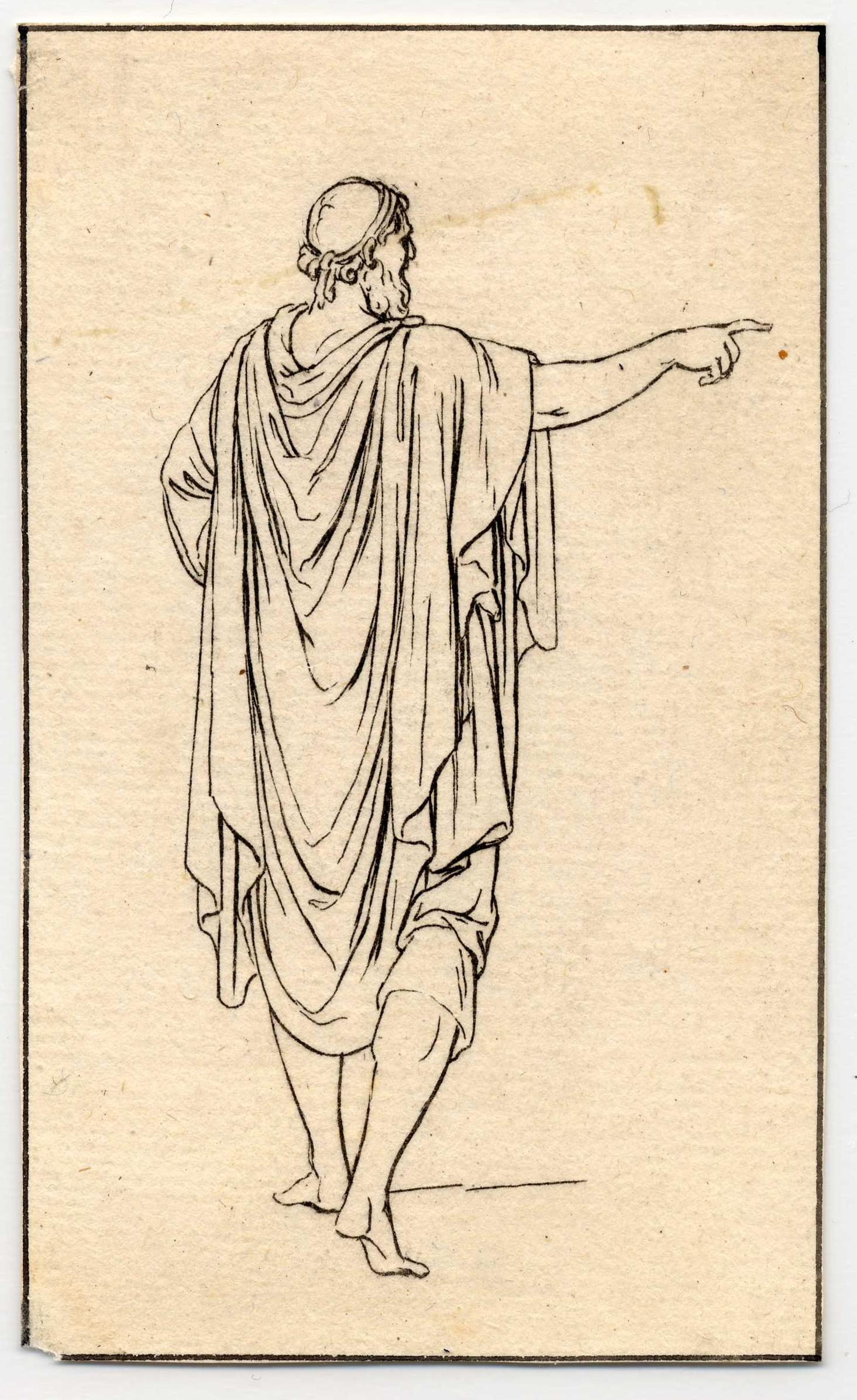 Contenu du Divers habillements des anciens Grecs et Romains, planche 11: un homme âgé