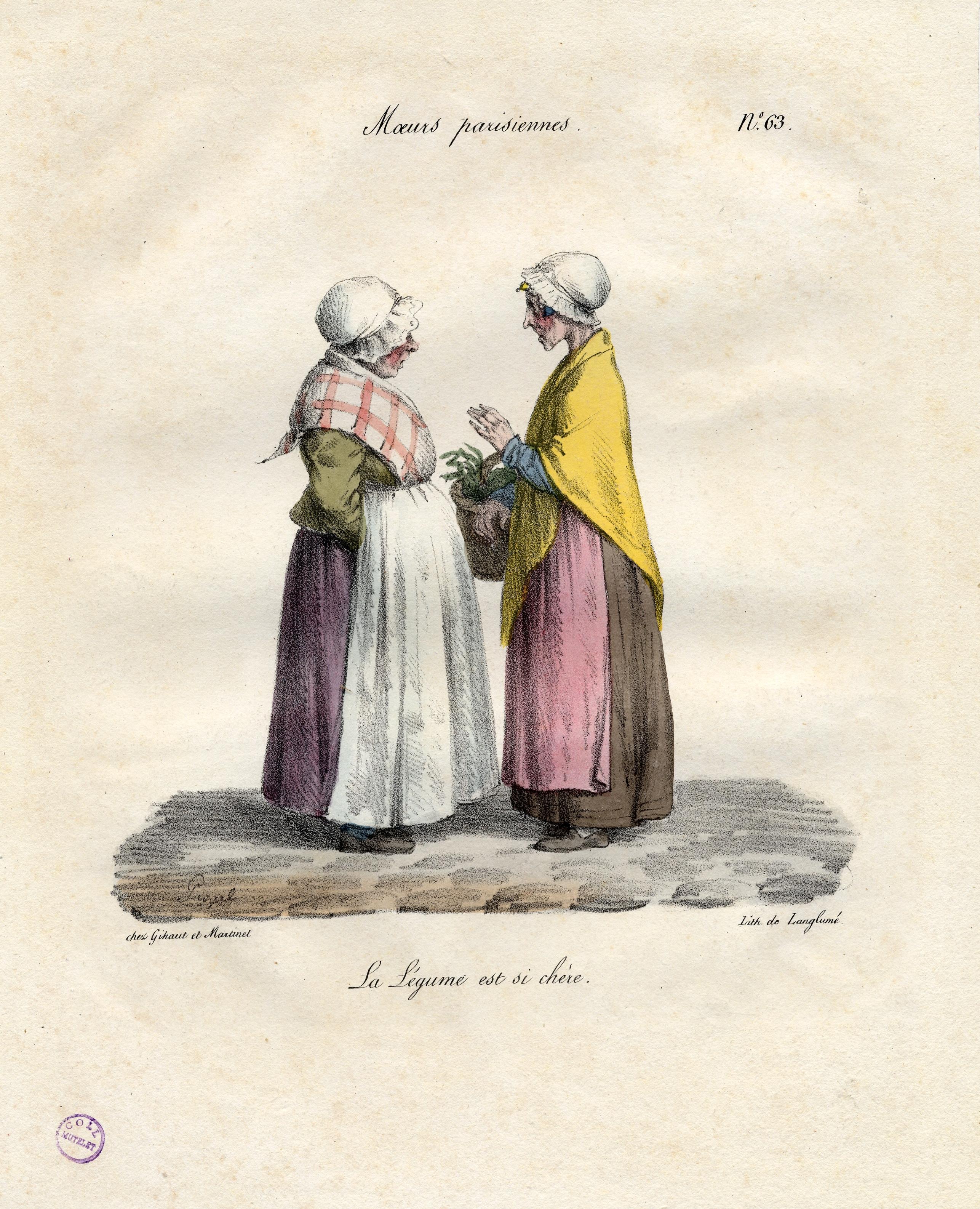 Contenu du Moeurs parisiennes – La légume est si chère.