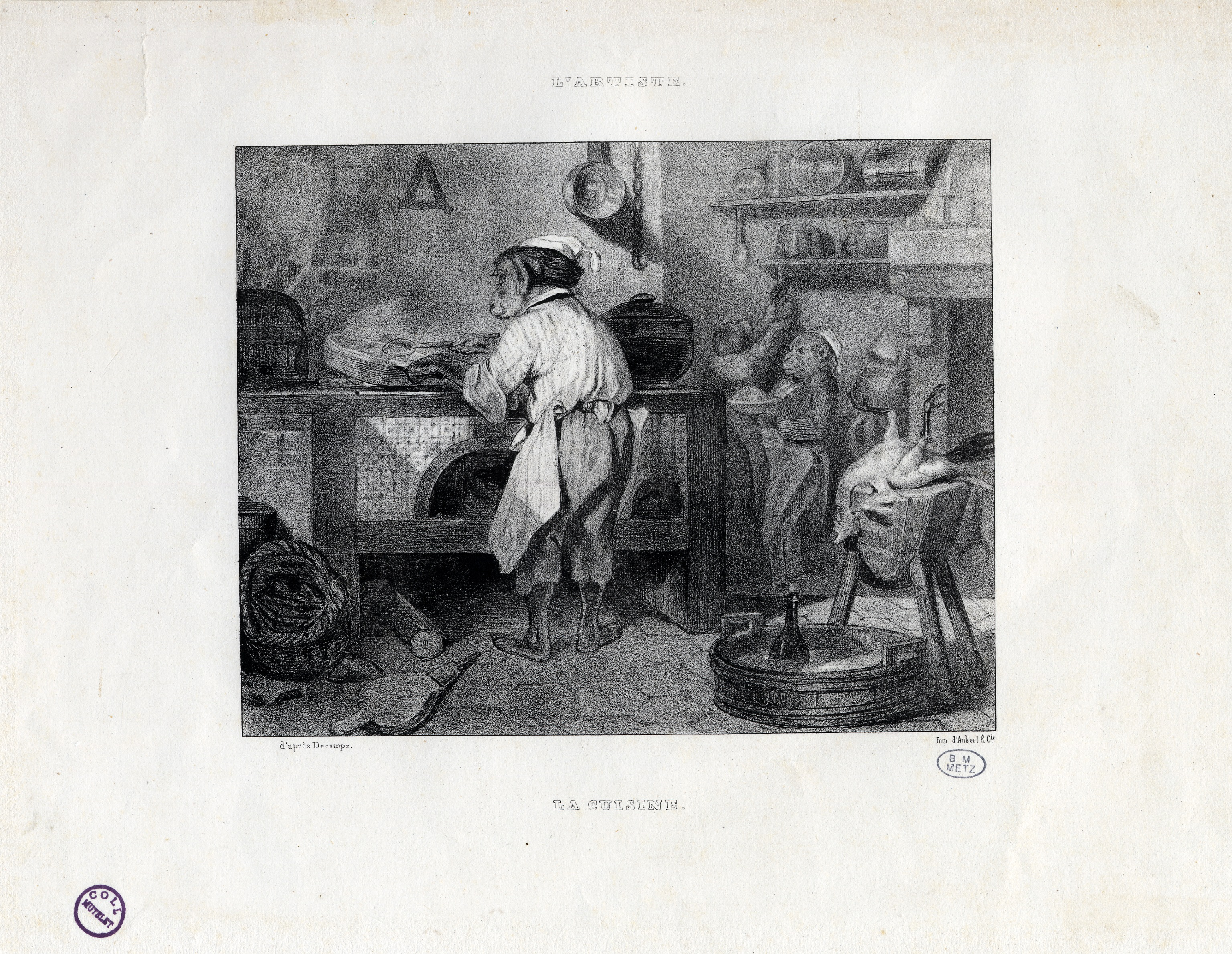 Contenu du L'artiste – La cuisine