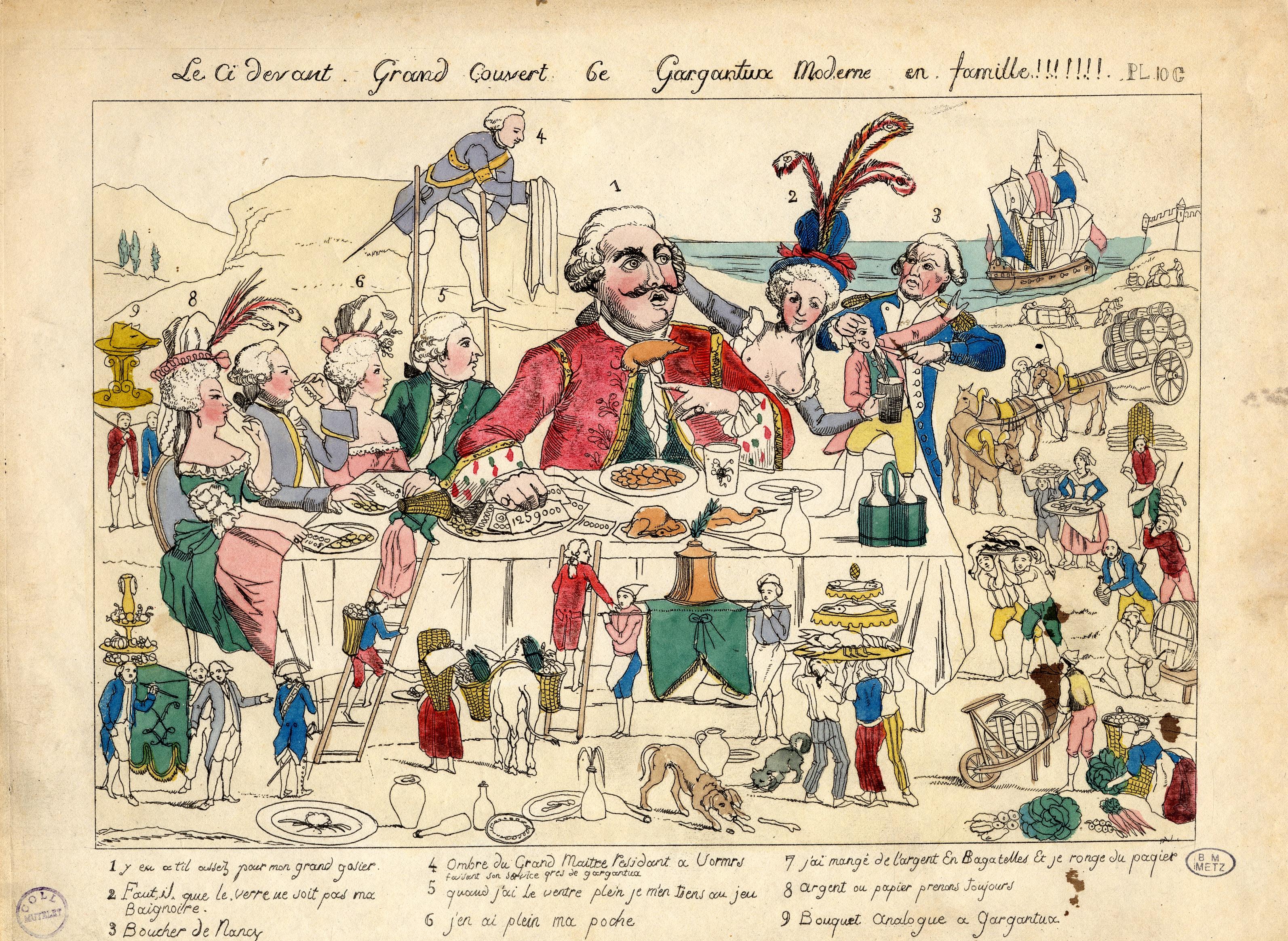Contenu du Le ci-devant – Grand couvert 6e –Gargantua moderne en famille!!!!!!!