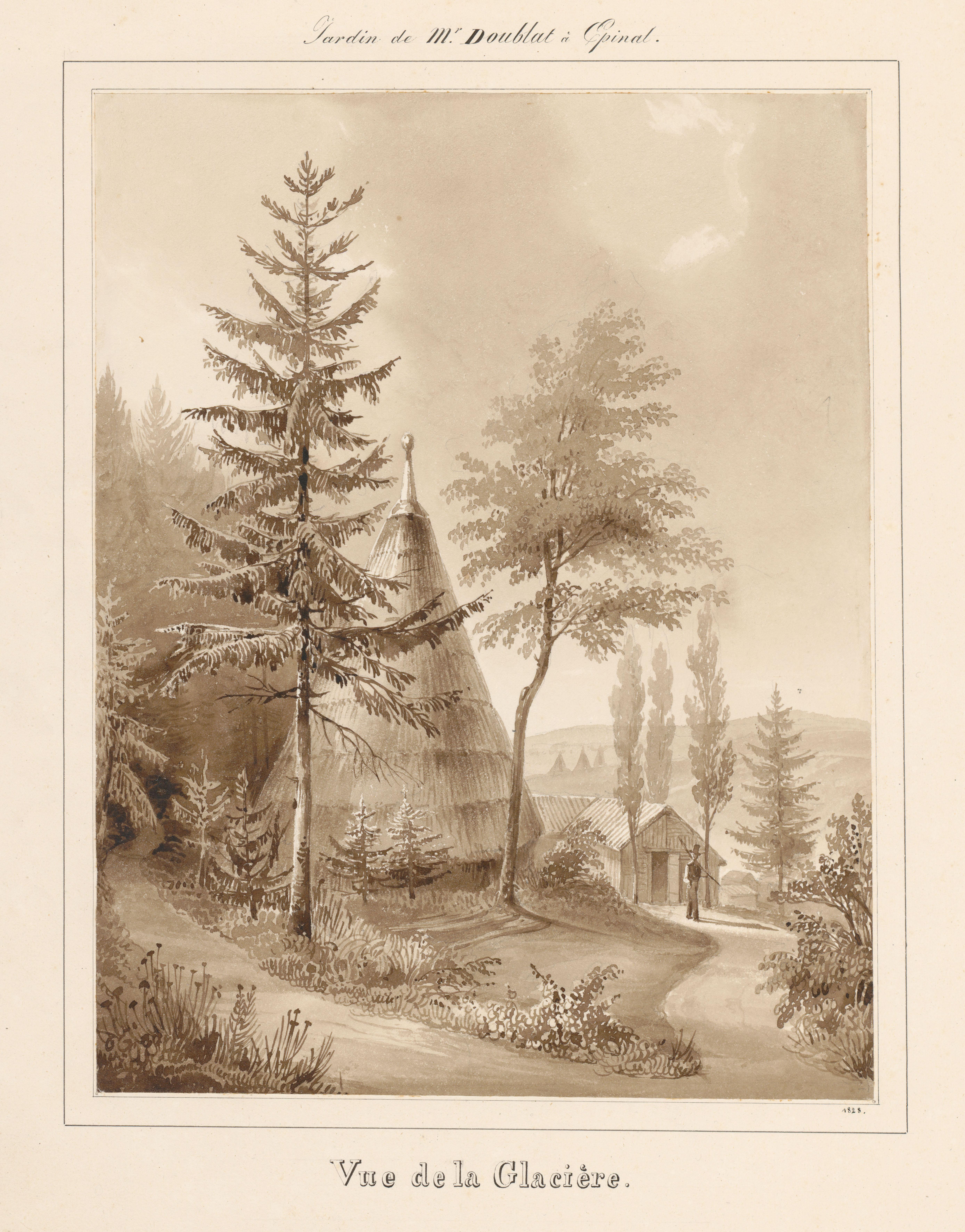 Contenu du Le château d'Epinal : Vue de la Glacière, en 1828