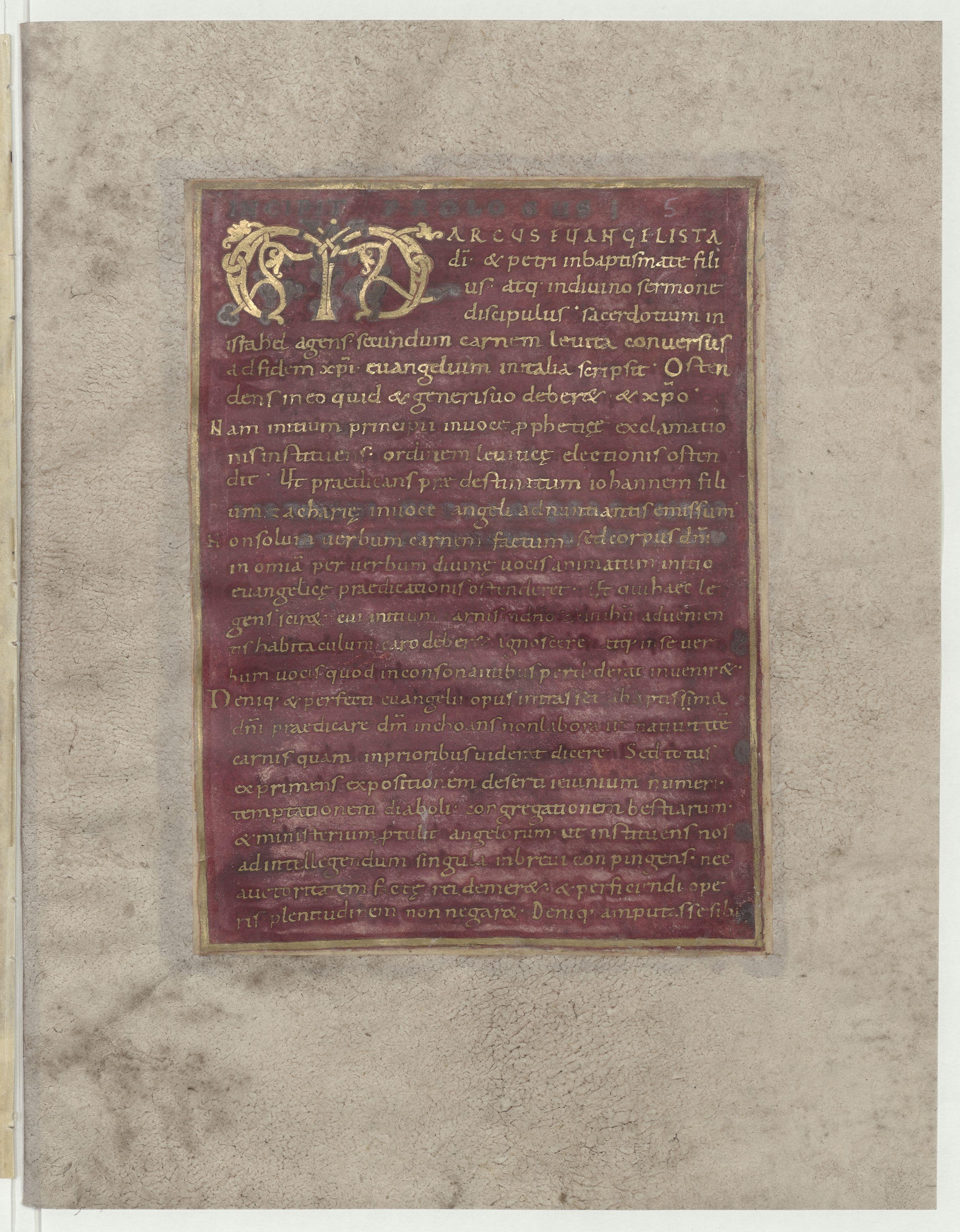 Contenu du Evangelium secundum Marcum