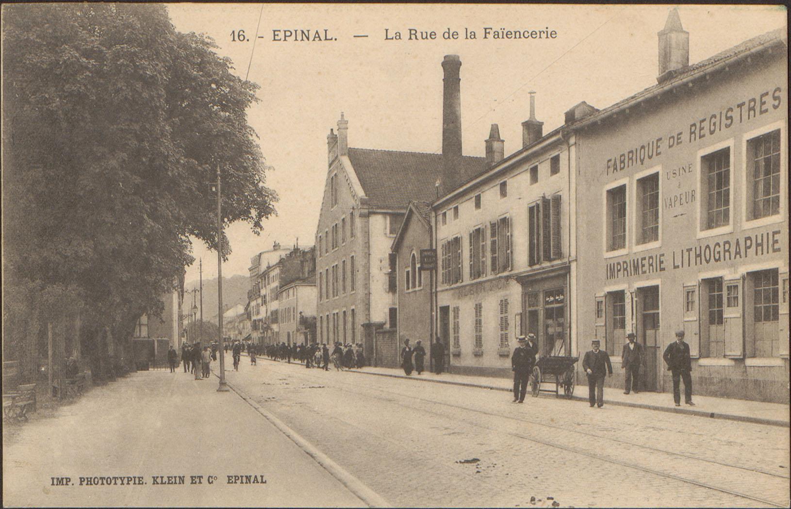 Contenu du Épinal, La Rue de la Faïencerie