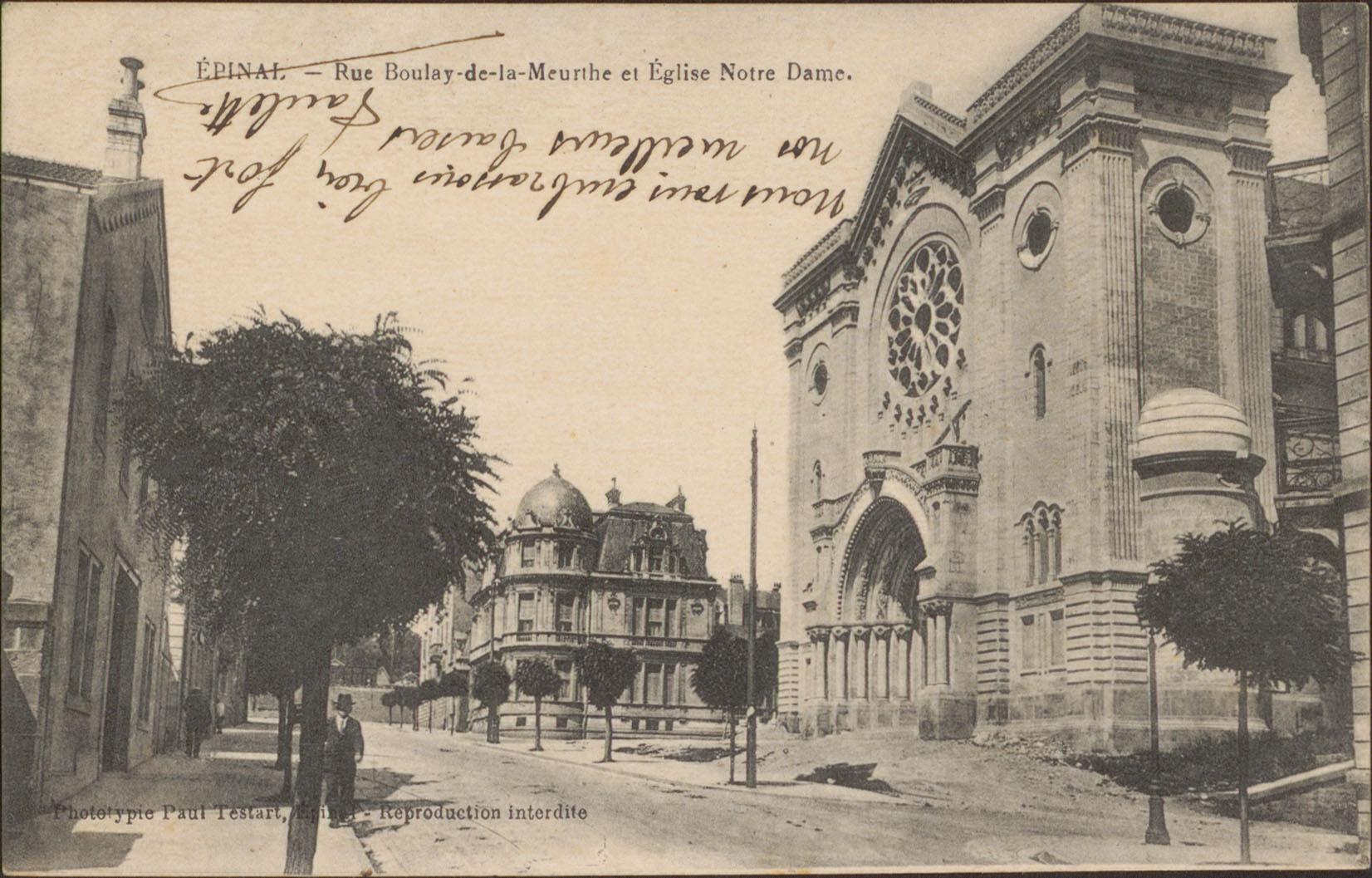 Contenu du Épinal, Rue Boulay-de-la-Meurthe et Église Notre-Dame