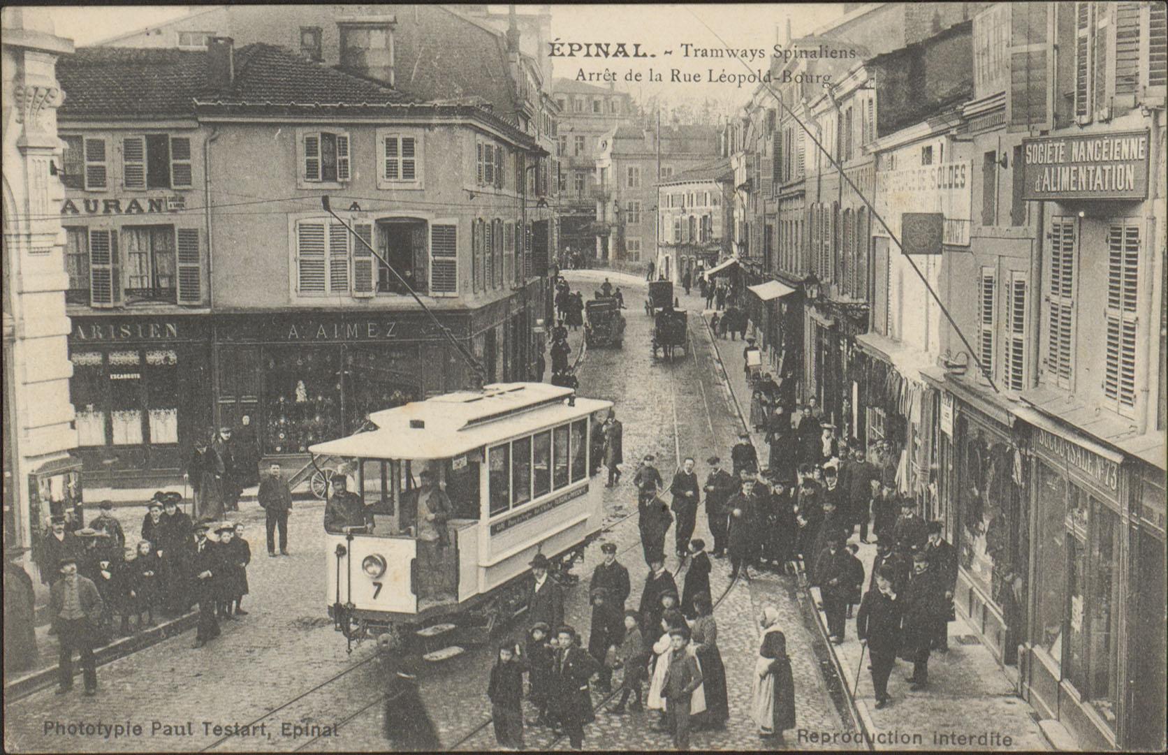 Contenu du Épinal, Tramways Spinaliens, Arrêt de la Rue Léopold-Bourg