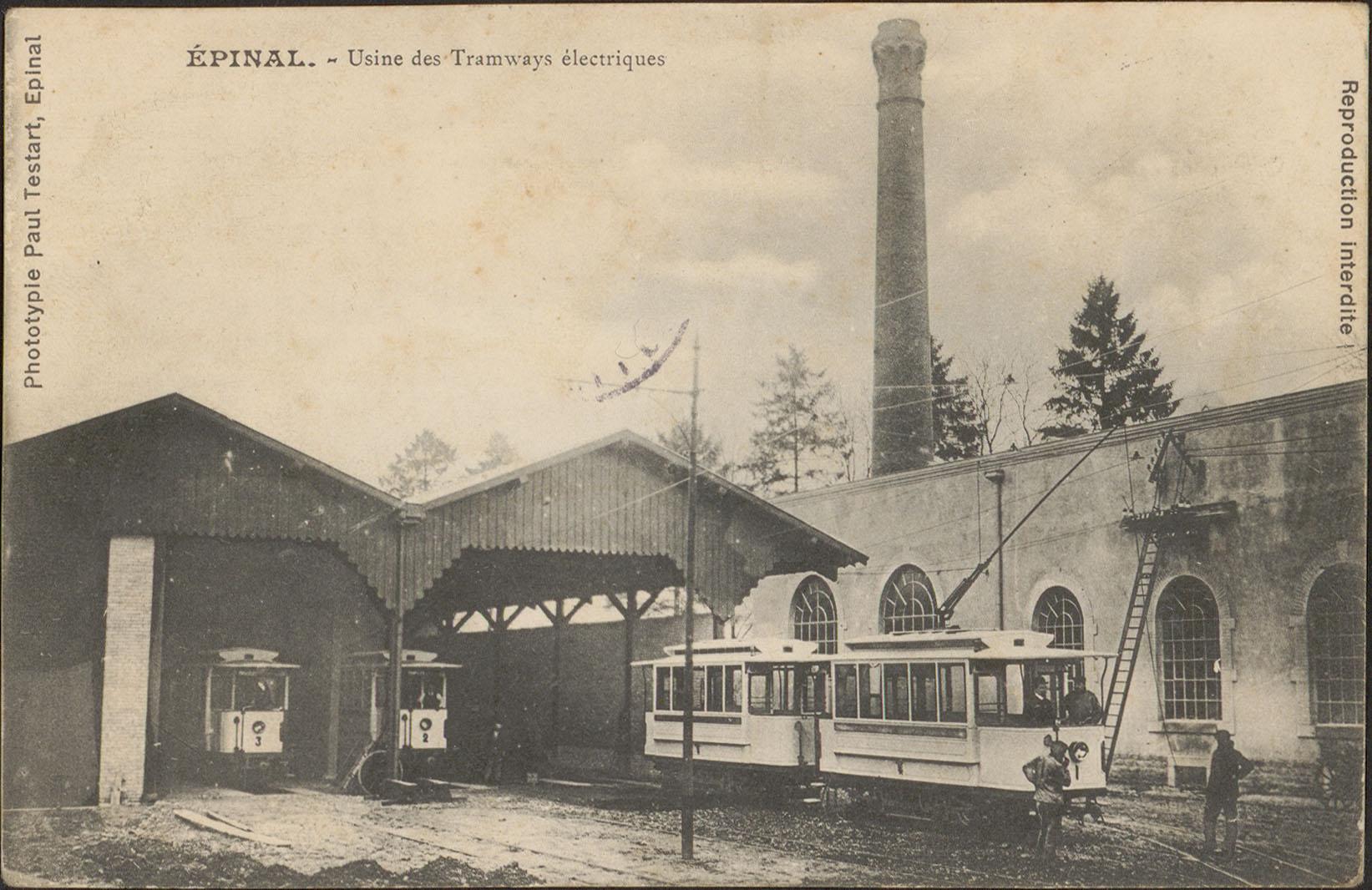 Contenu du Épinal, Usine des Tramways électriques