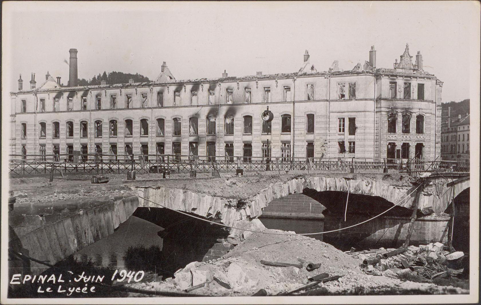 Contenu du Épinal, Juin 1940, Le Lycée