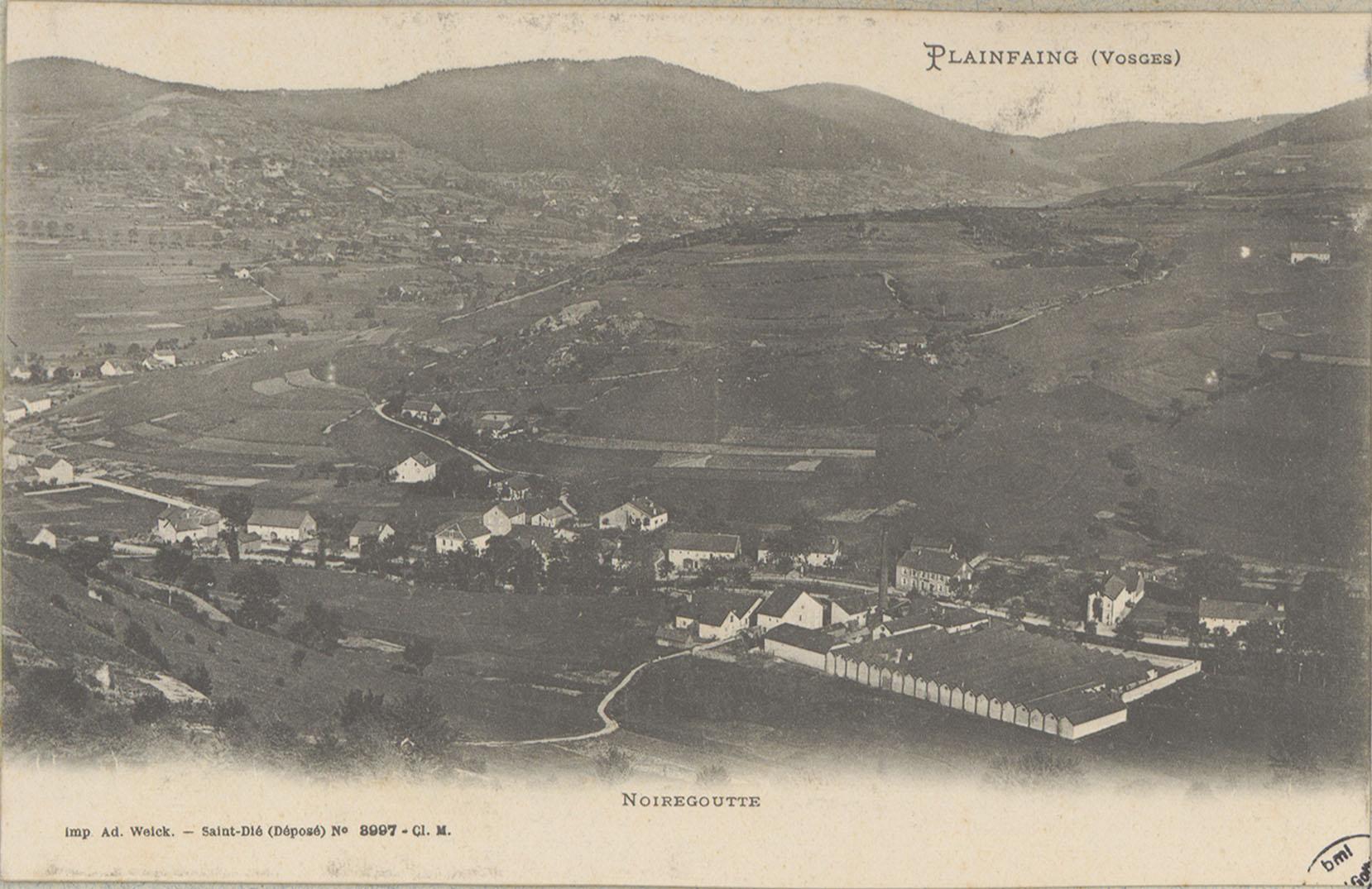 Contenu du Plainfaing (Vosges), Noiregoutte