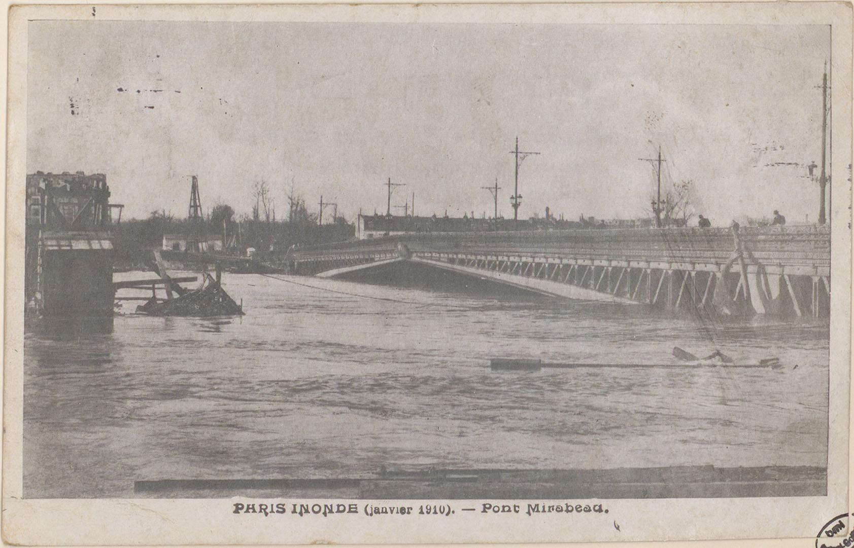 Contenu du Paris inondé (janvier 1910), Pont Mirabeau