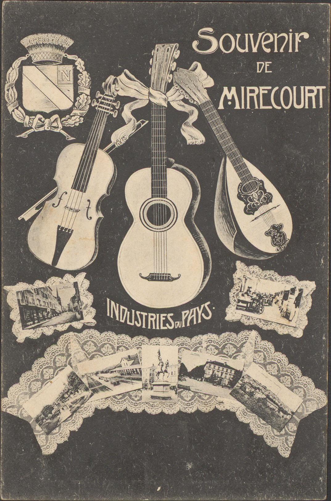 Contenu du Souvenir de Mirecourt, Industries du pays