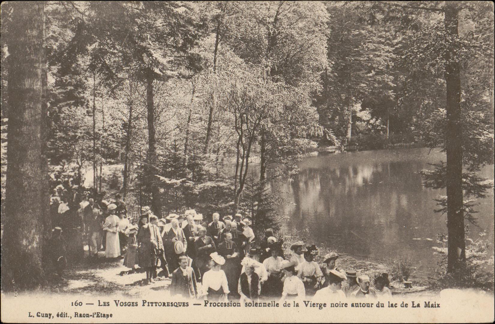 Contenu du Procession solennelle de la Vierge noire autour du lac de La Maix