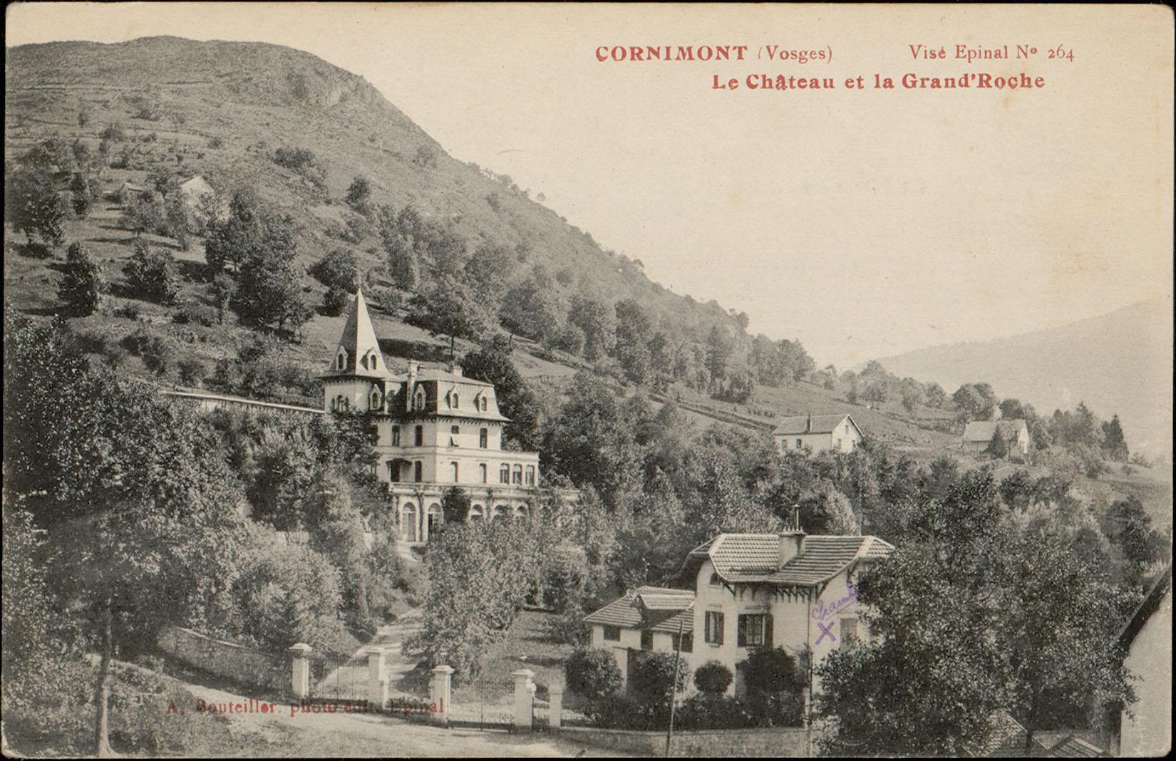Contenu du Cornimont (Vosges), Le Château et la Grand'Roche