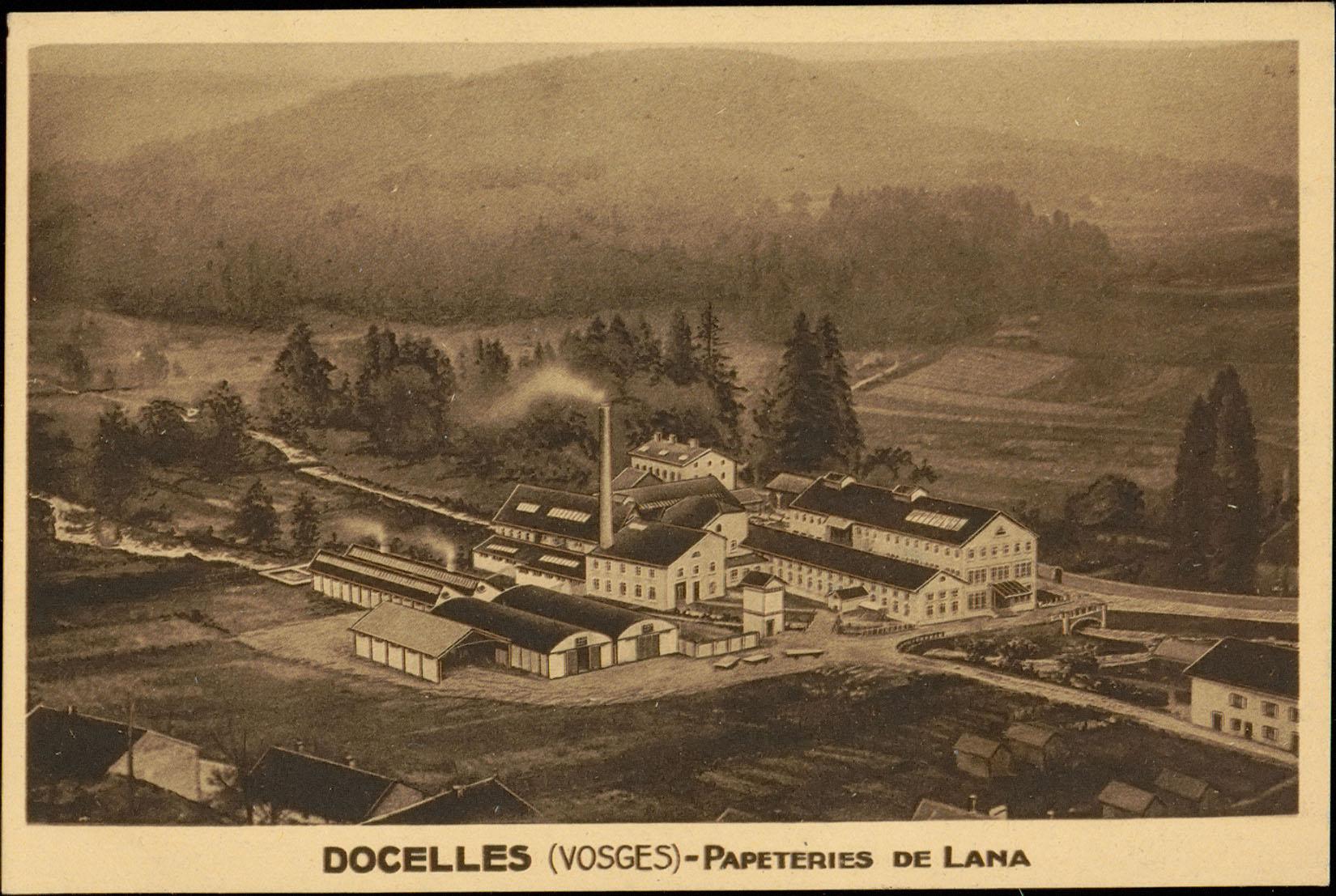 Contenu du Docelles (Vosges), Papeteries de Lana