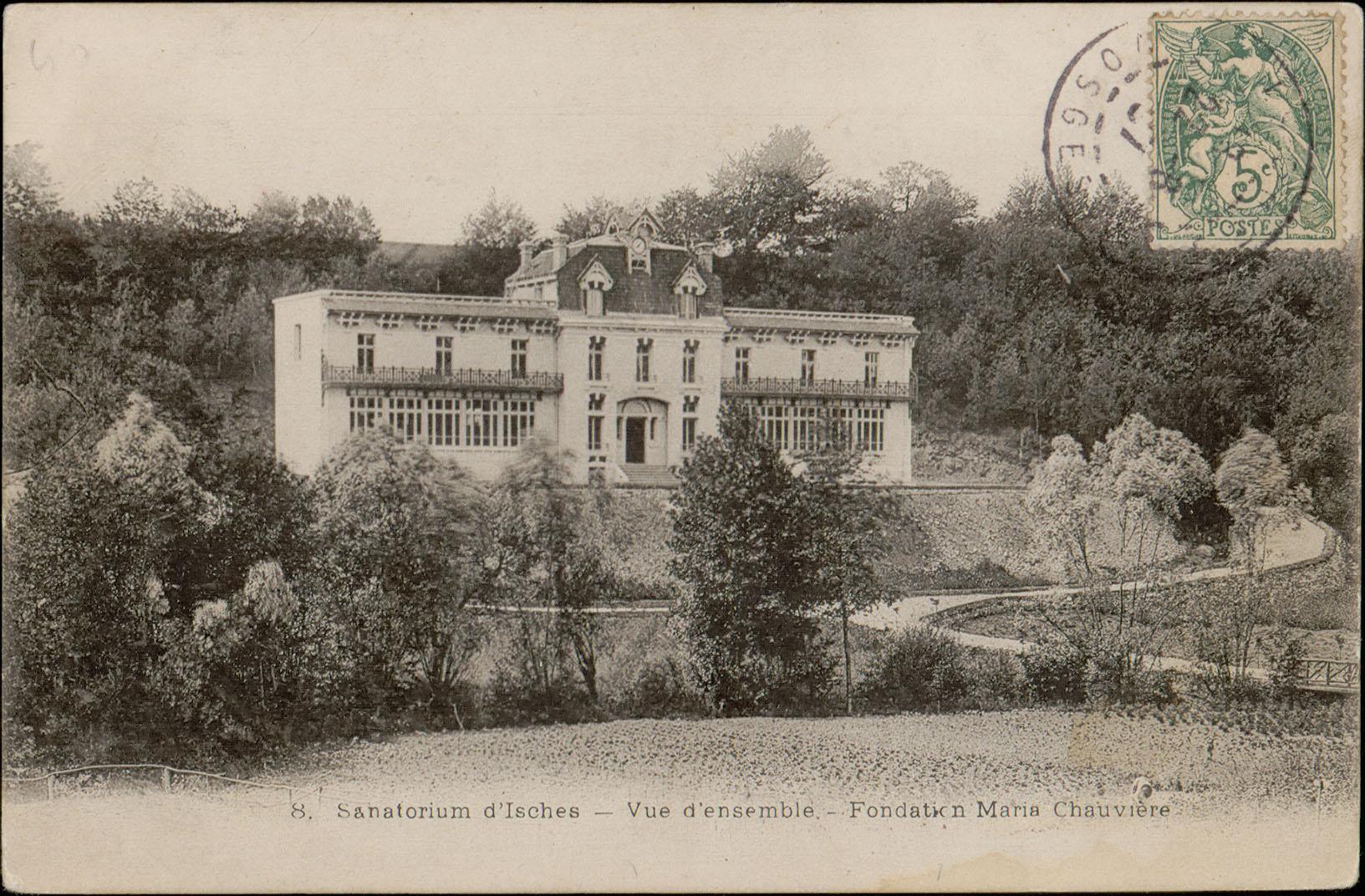 Contenu du Sanatorium d'Isches, Vue d'ensemble, Fondation Maria chauvière