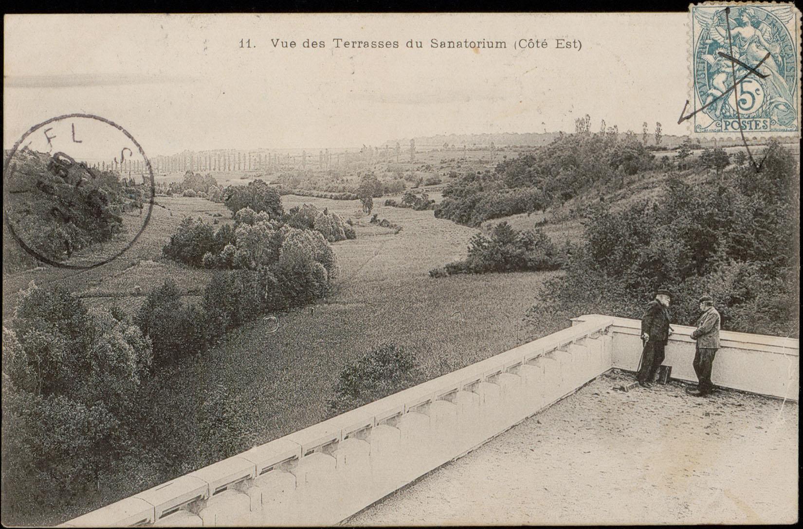 Contenu du Vue des Terrasses du Sanatorium (Côté Est)