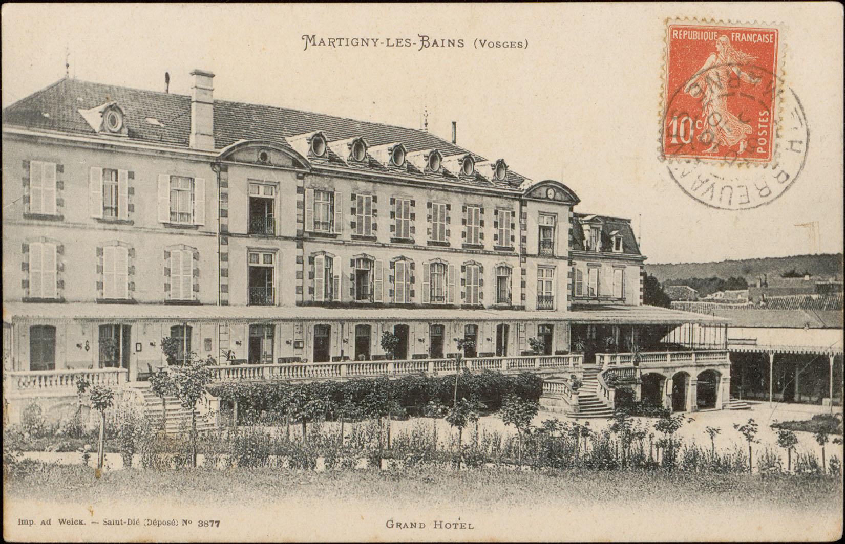 Contenu du Martigny-les-Bains (Vosges), Grand Hôtel